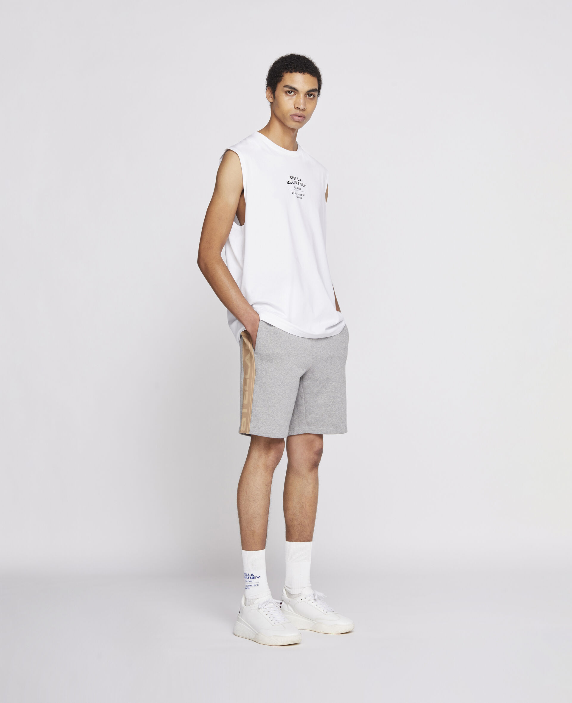 23 OBS Knitted Shorts -Grey-large image number 1