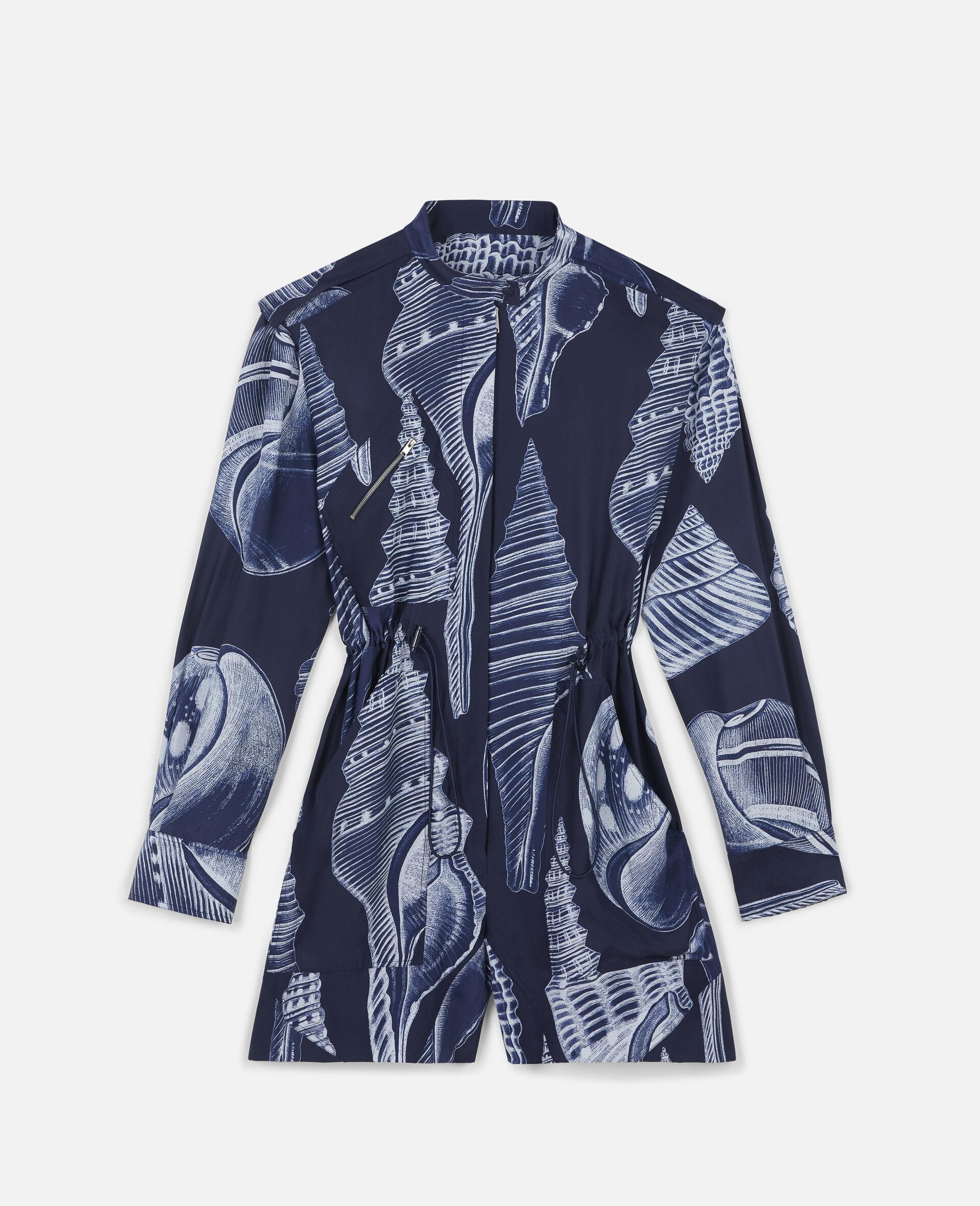 Erin Silk Jumpsuit -Blue-large image number 0