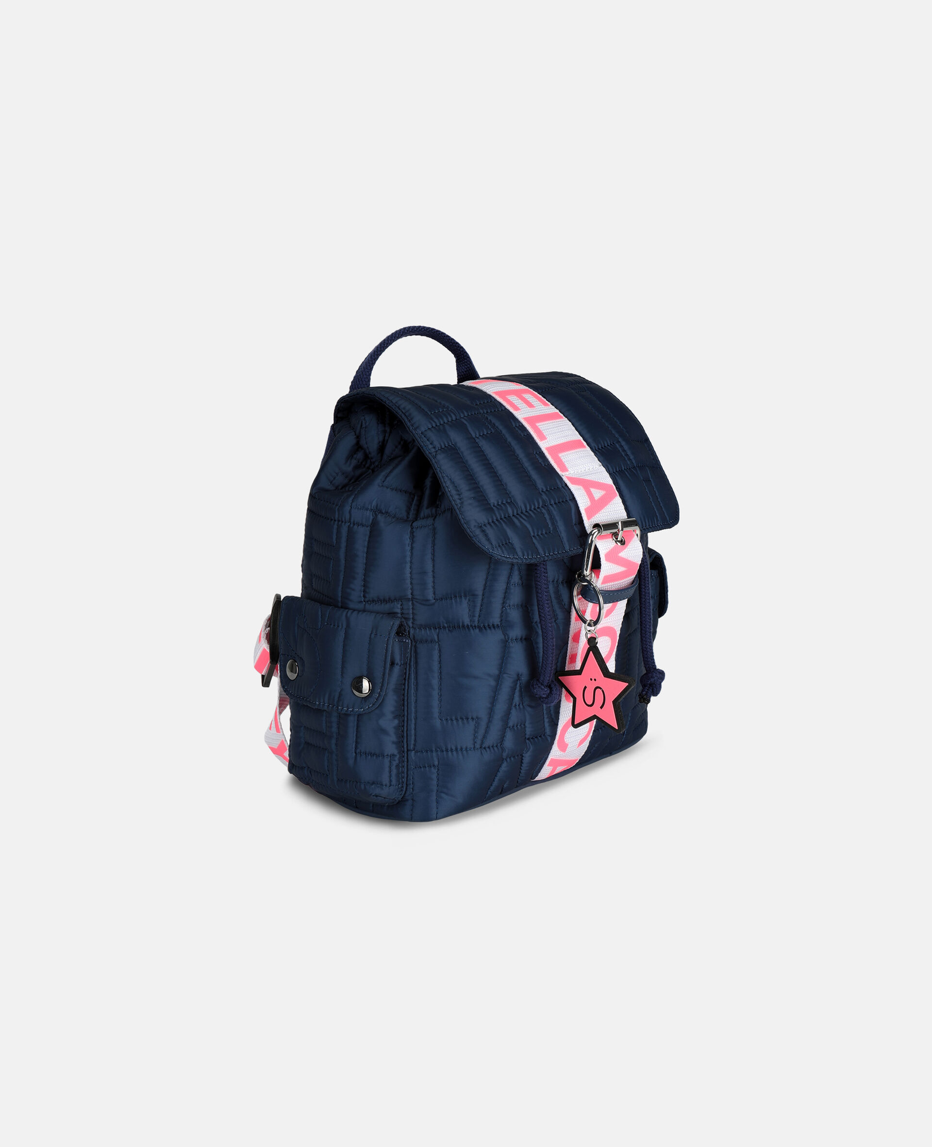 Logo Quilted Small Backpack-Blue-large image number 1