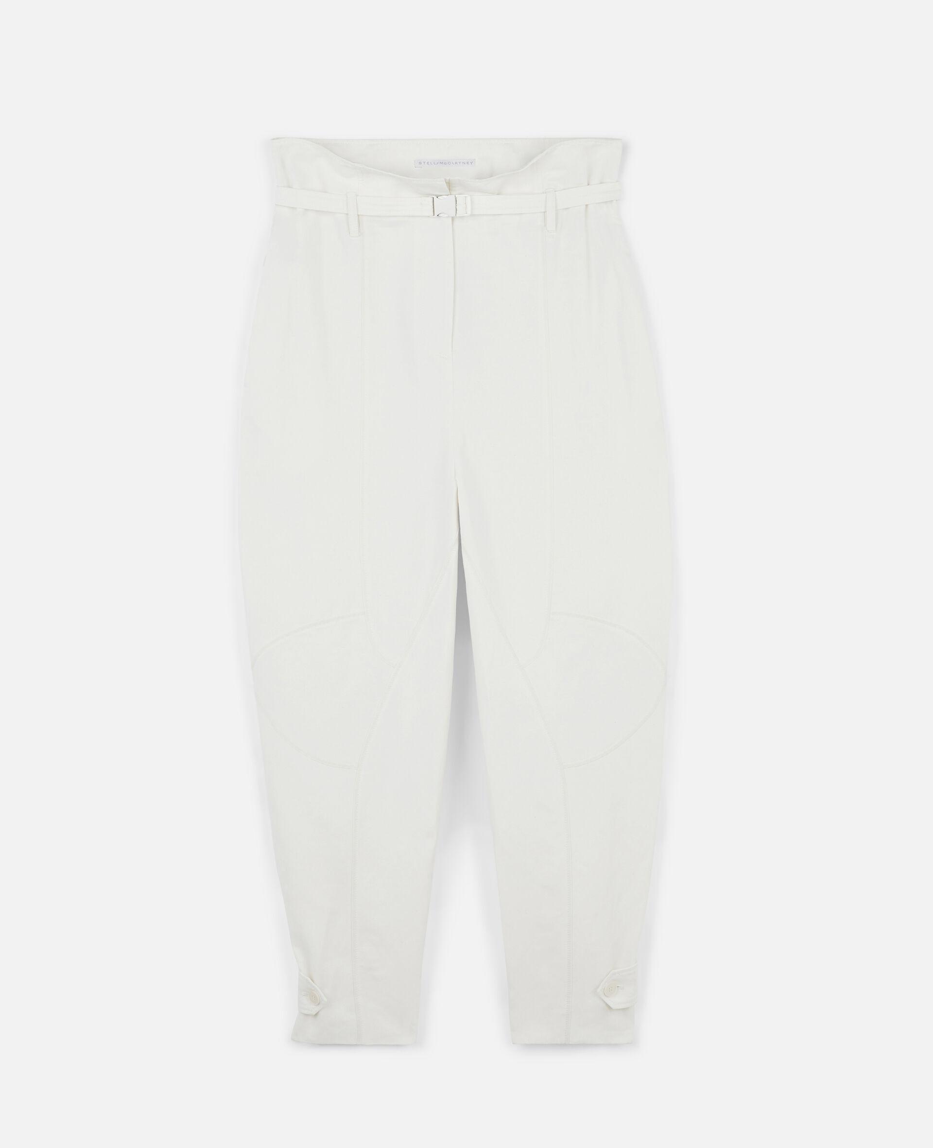 Pantalon Daisy fuselé-Blanc-large image number 0