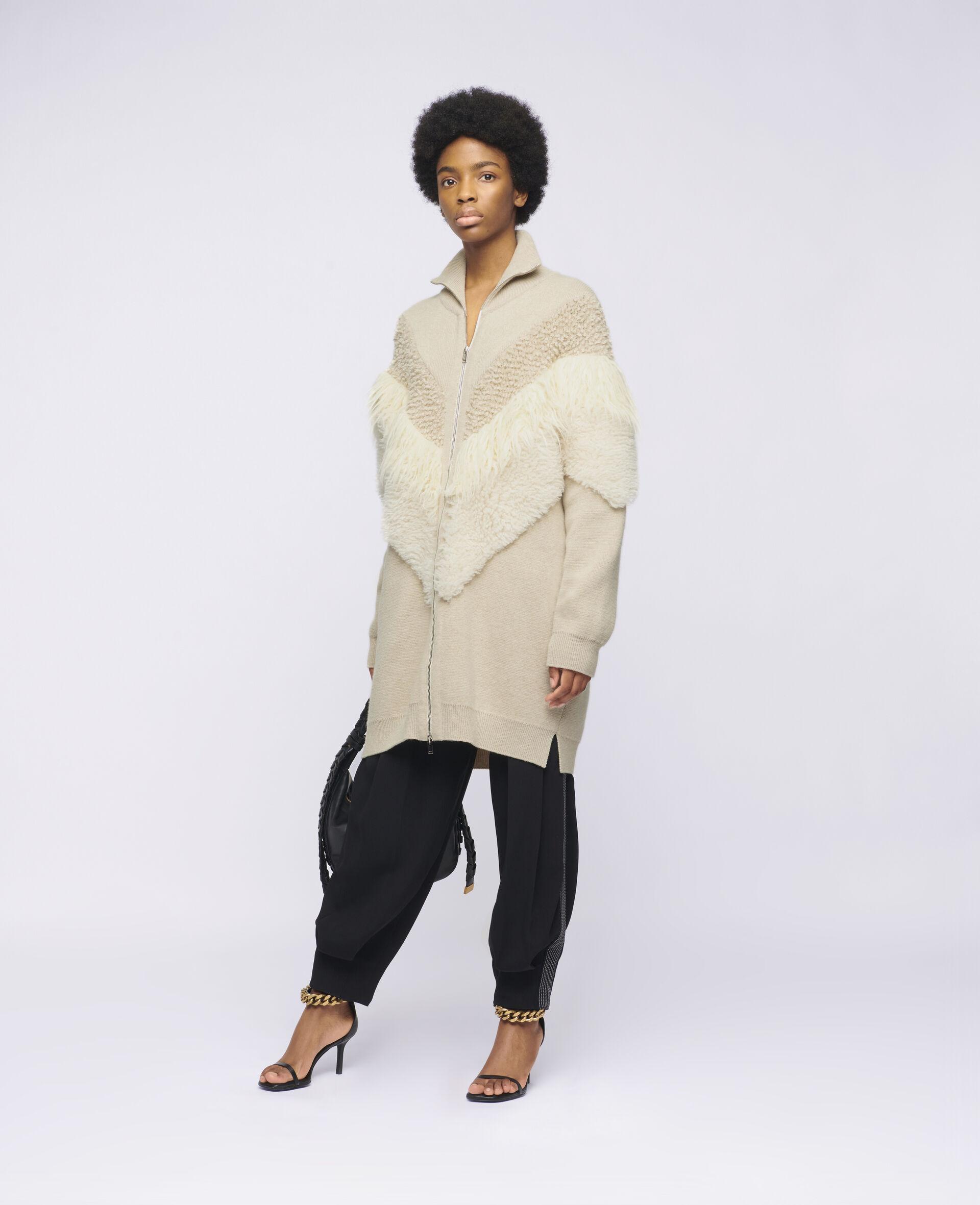 FFF Knit Jacket  -Beige-large image number 1