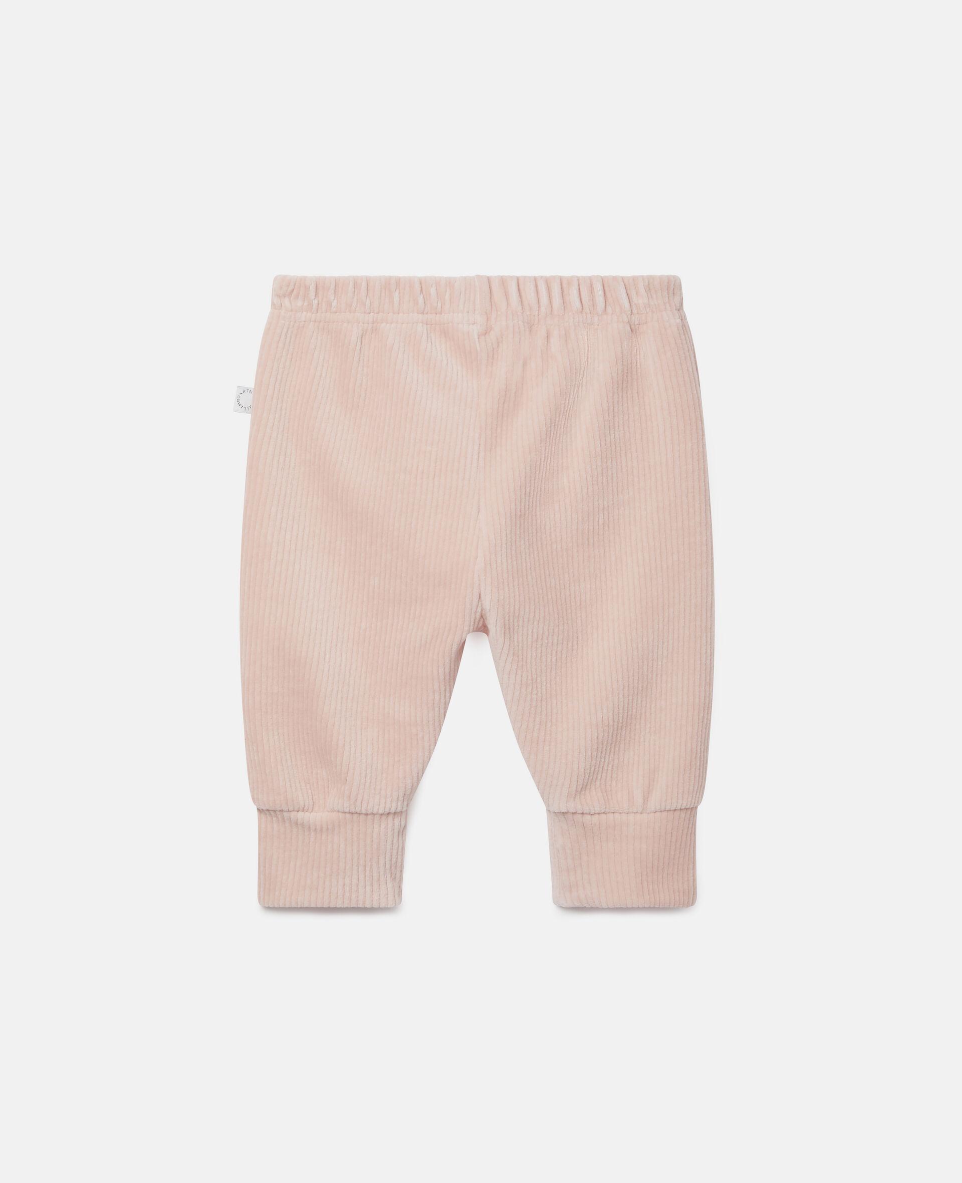 Pantalon de jogging en velours-Rose-large image number 3