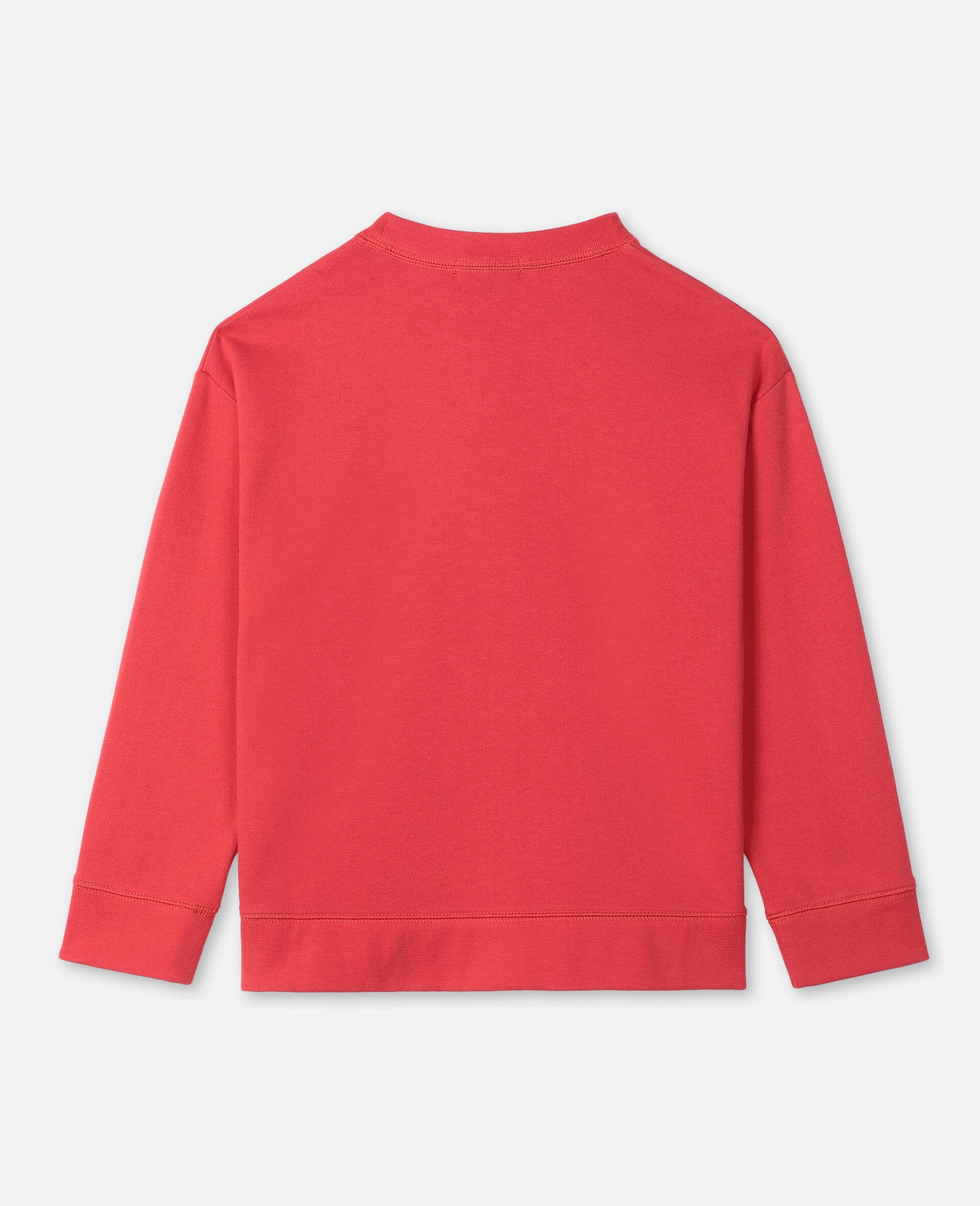 Oversize Logo Sailing Cotton Sweatshirt -Red-large image number 3