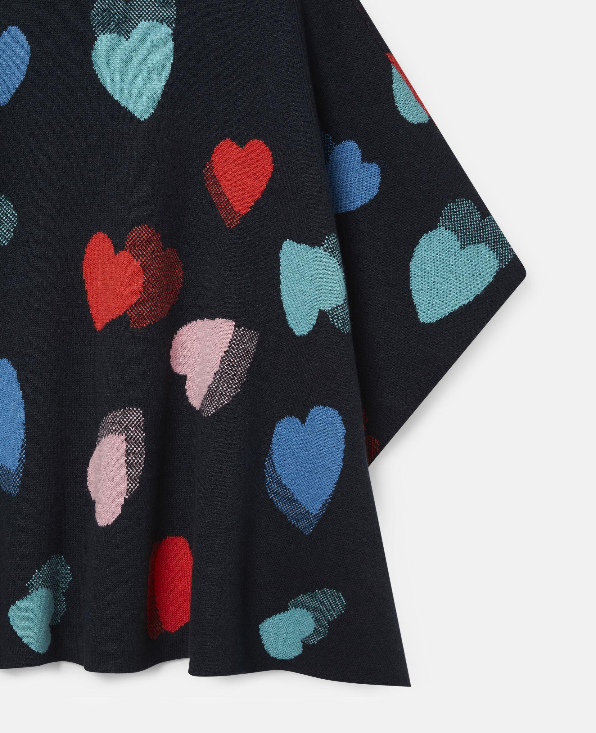 Hearts Knit Cape-Multicolour-large image number 1