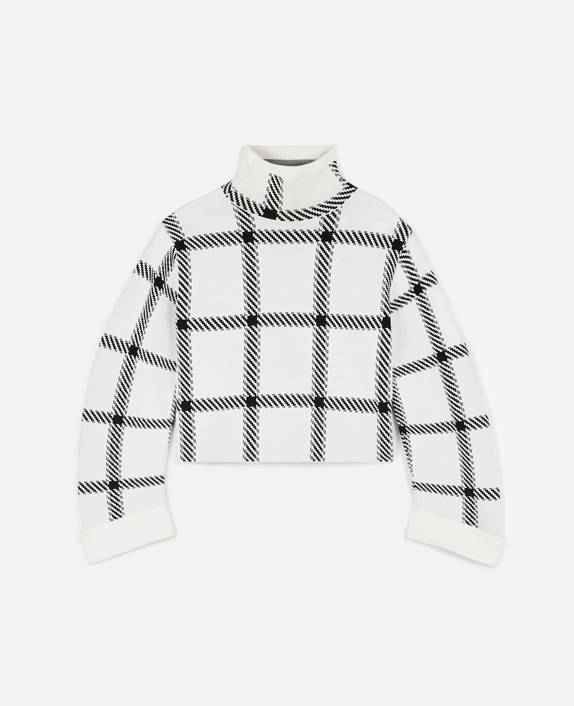 Knit Check Top-Multicolour-large image number 0
