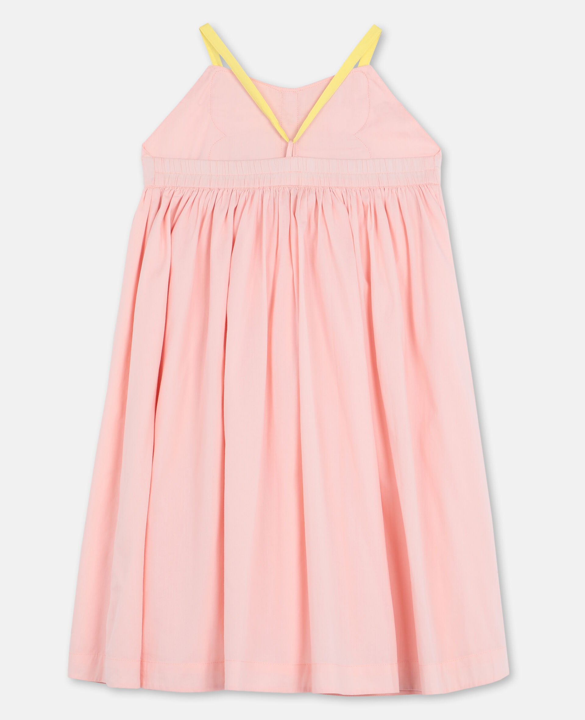 Butterfly Patch Cotton Dress -Pink-large image number 3