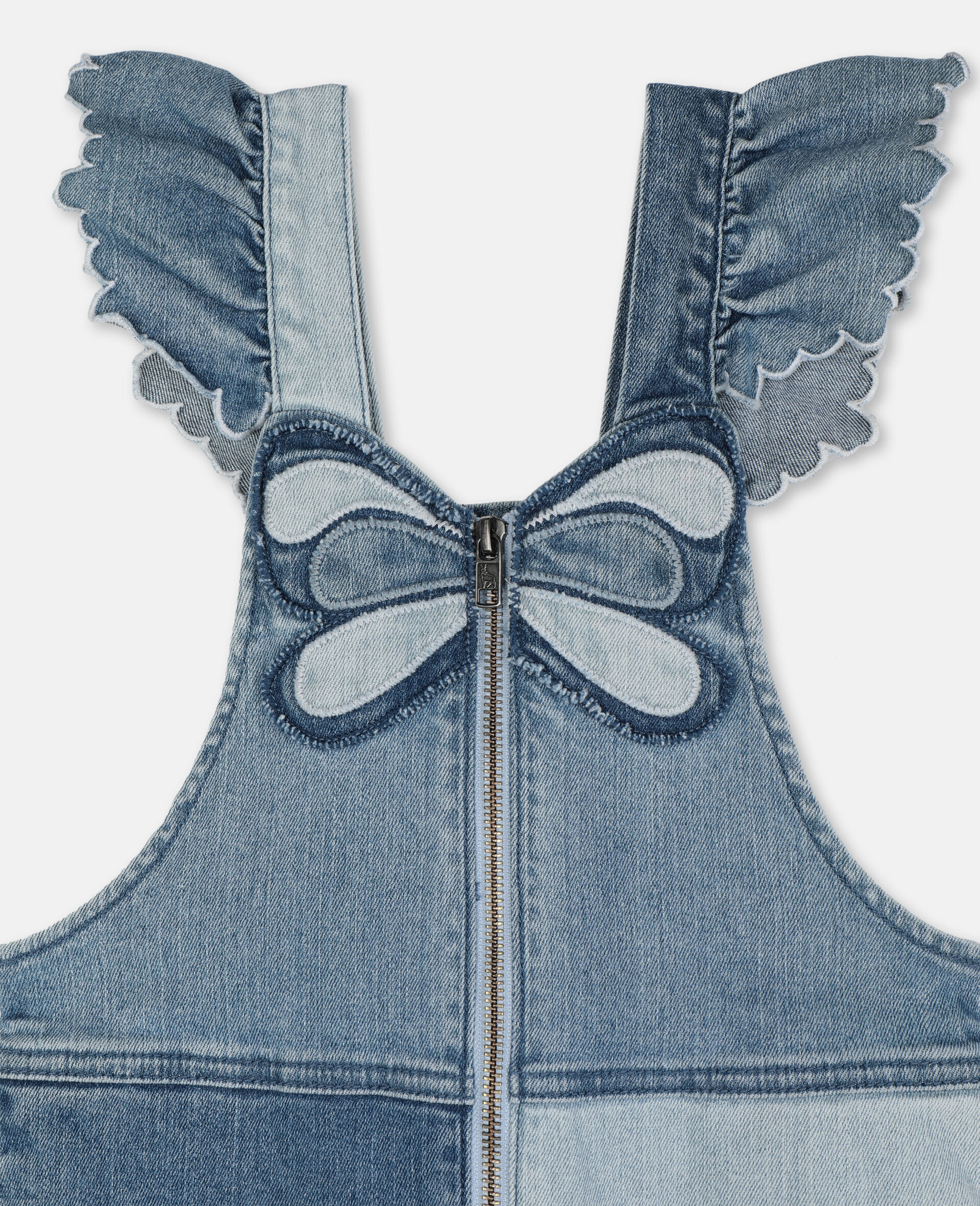 Butterfly Light Denim All-In-One-Blue-large image number 1