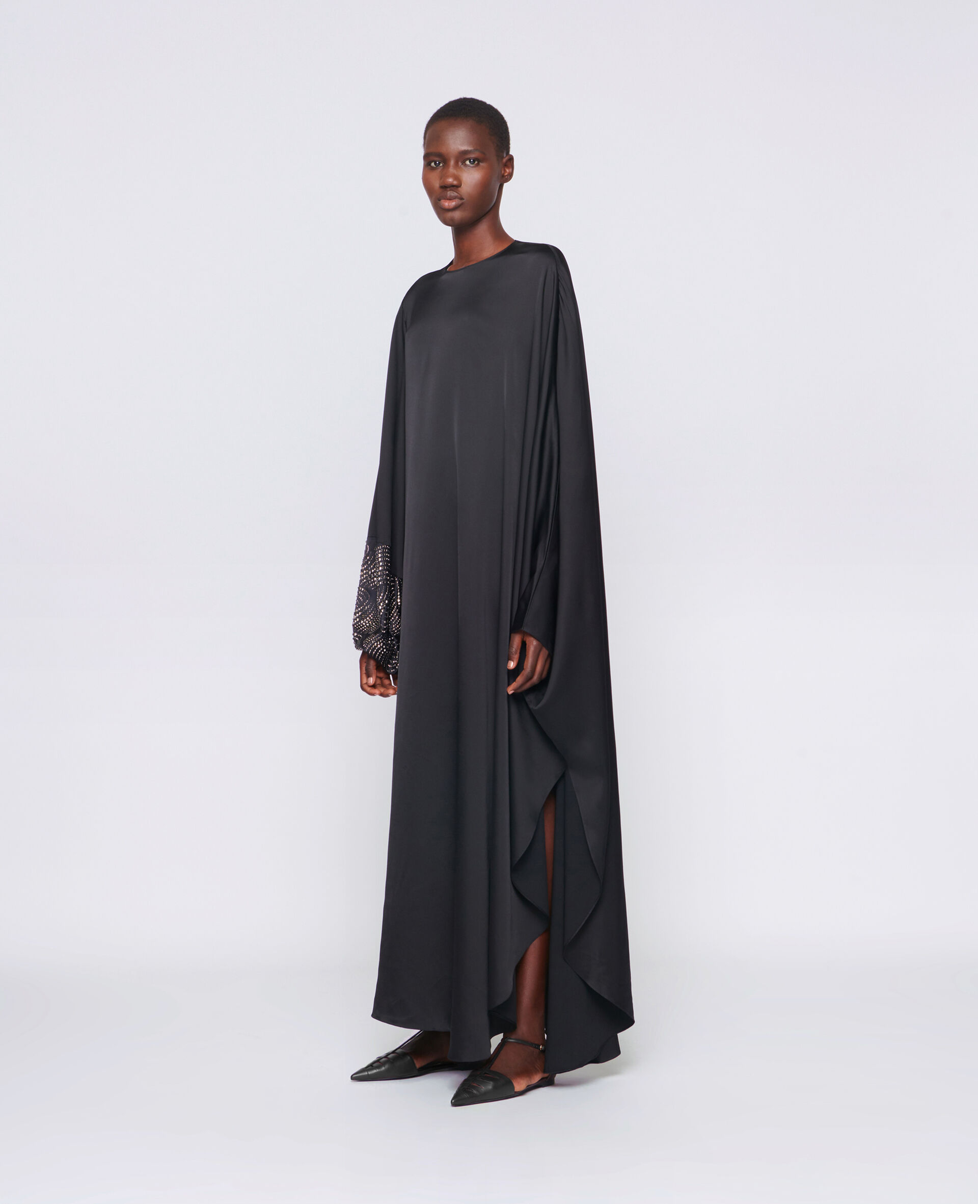 Robe Aliyah avec détail thermocollé-Noir-large image number 1