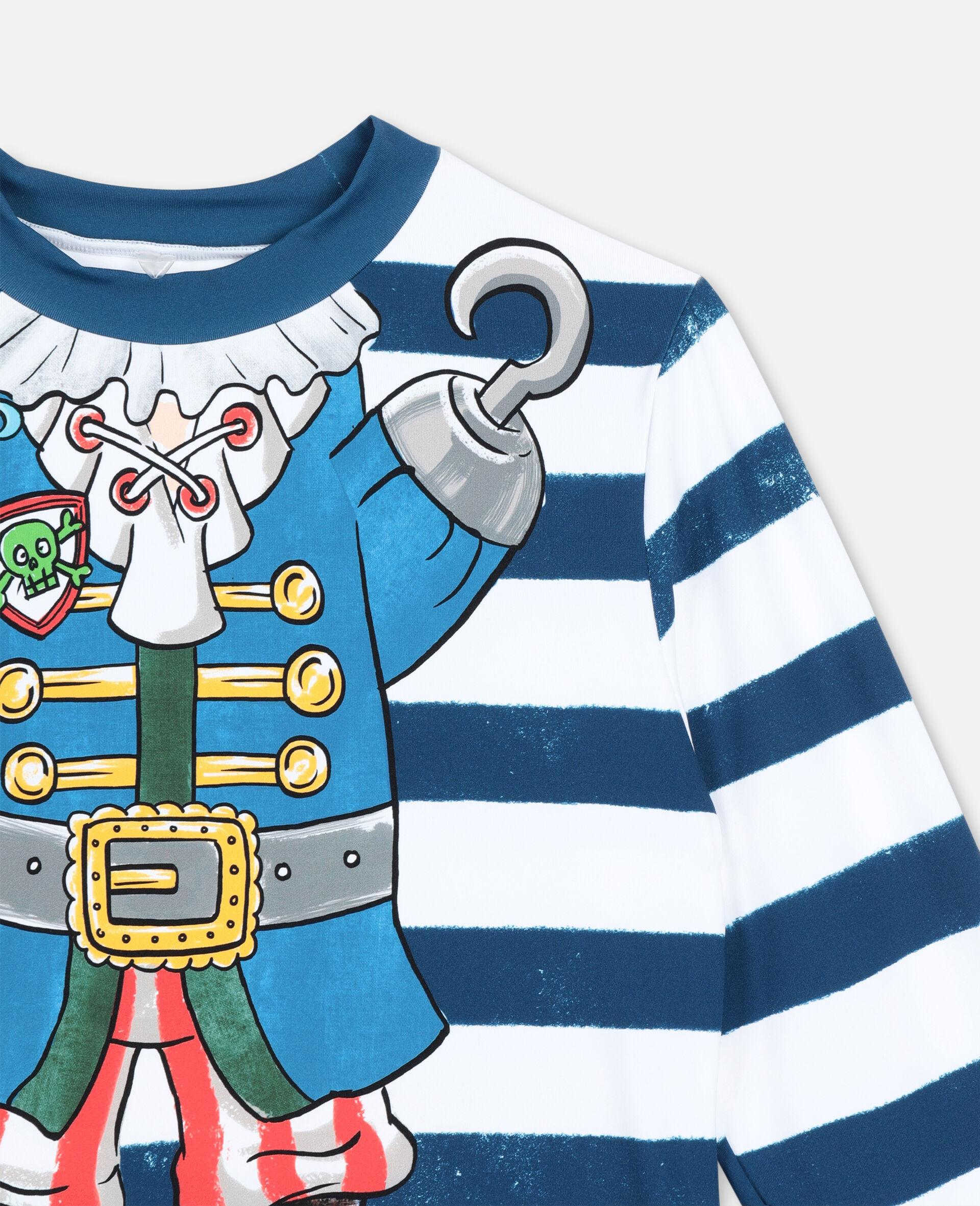 Trompe-L'Oeil Pirate Swim T-shirt -Multicoloured-large image number 2