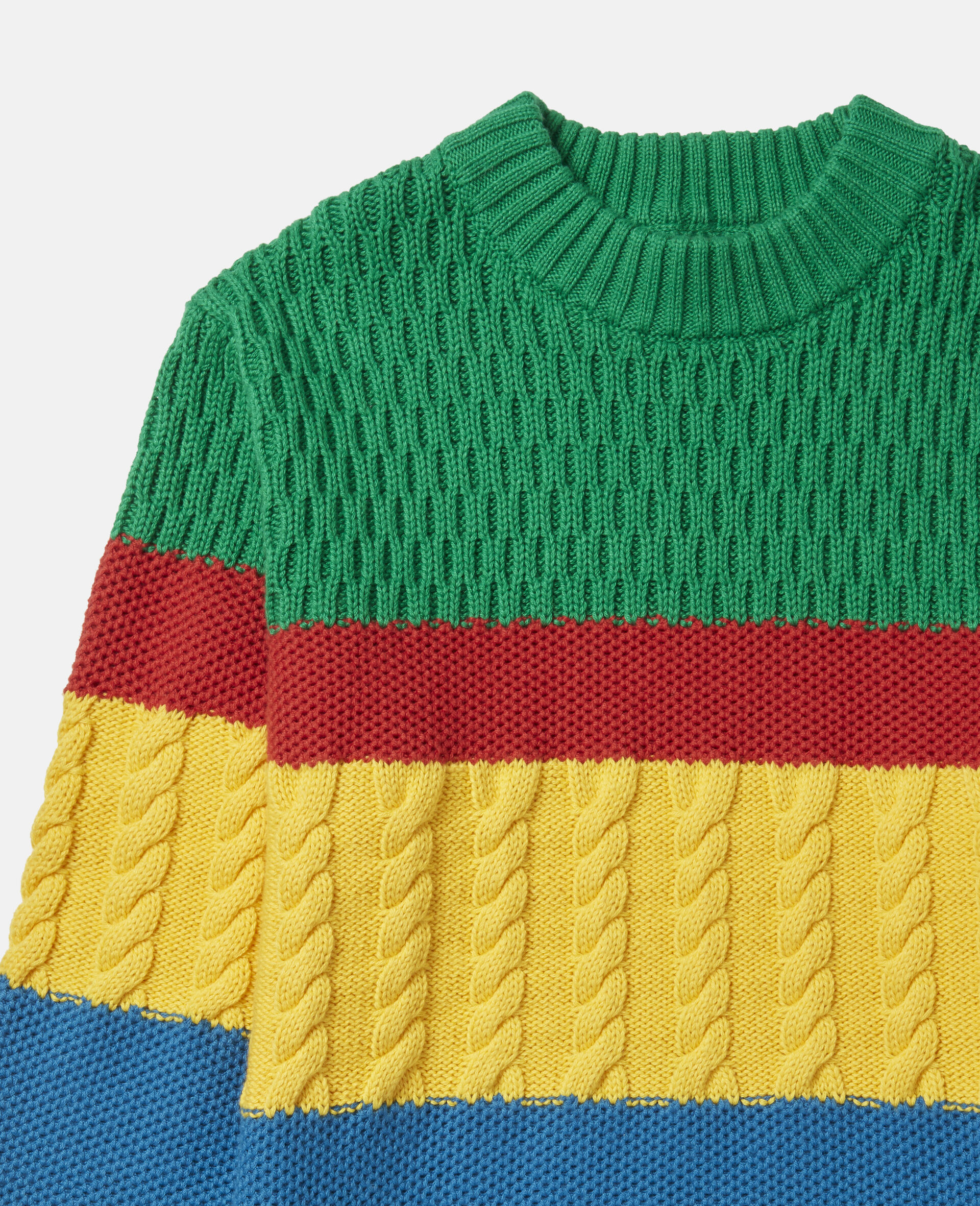 Colorblock Oversized Knit Sweater-Multicolour-large image number 1