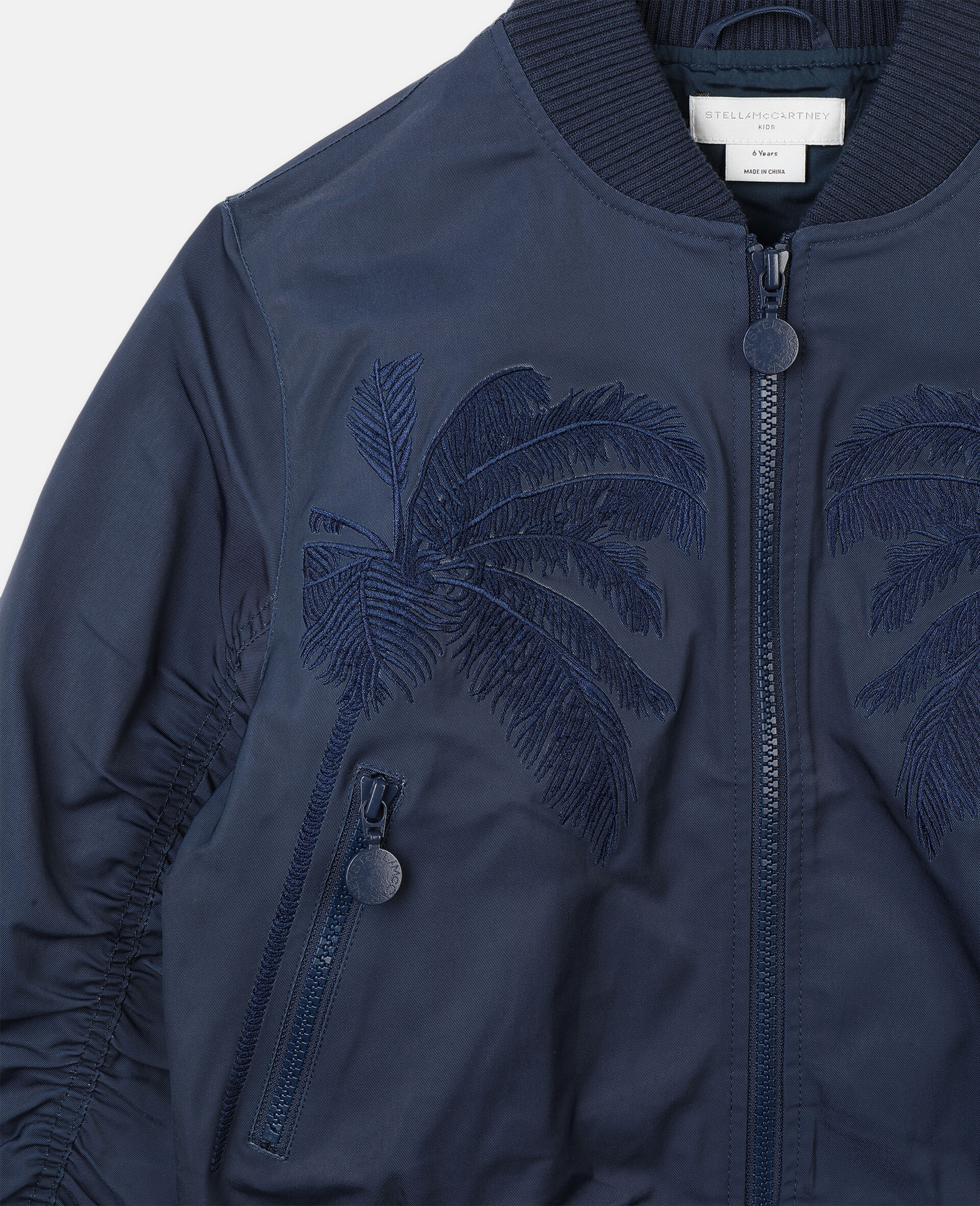 Embroidered Palms Jacket -Blue-large image number 1