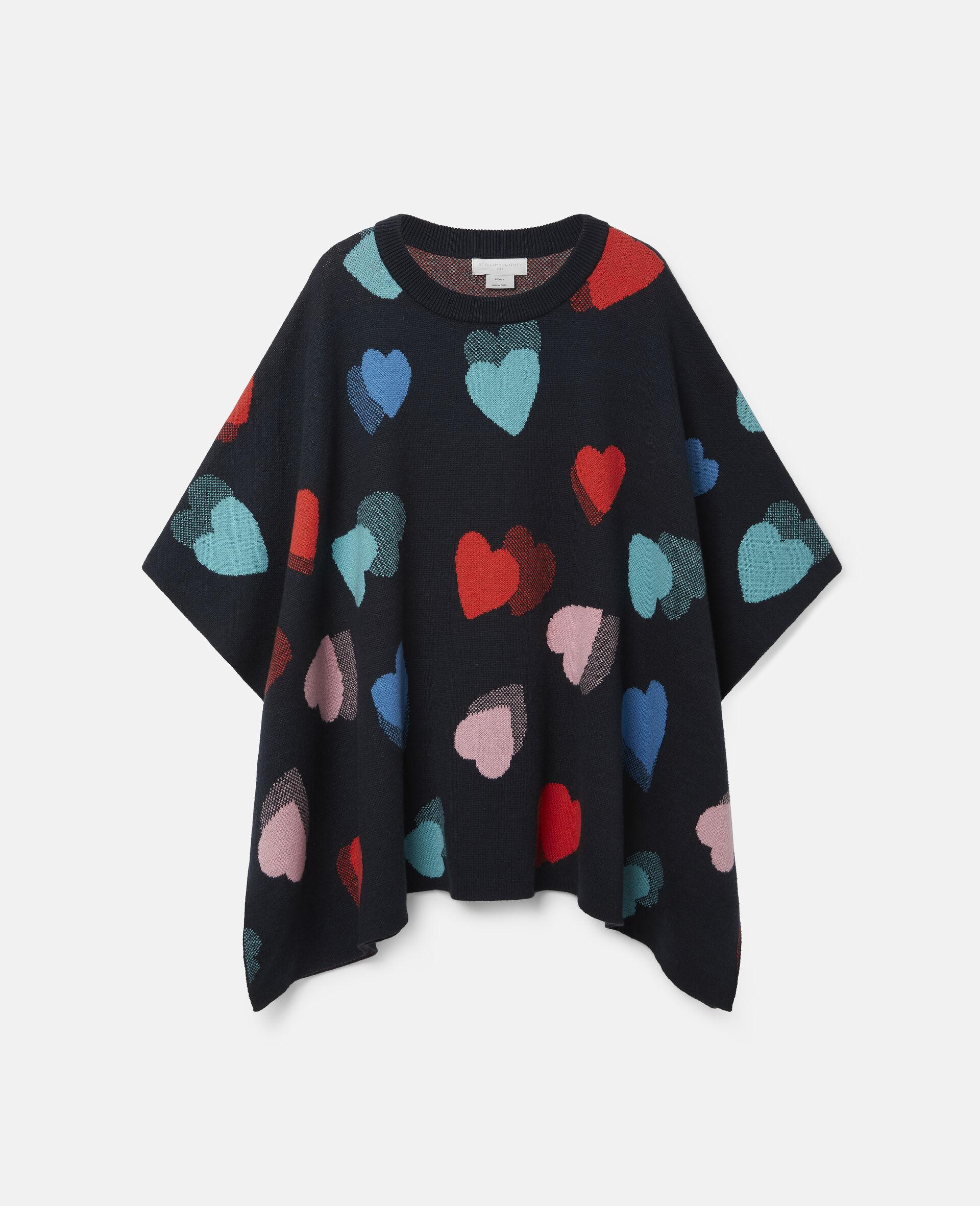 Hearts Knit Cape-Multicolour-large image number 0