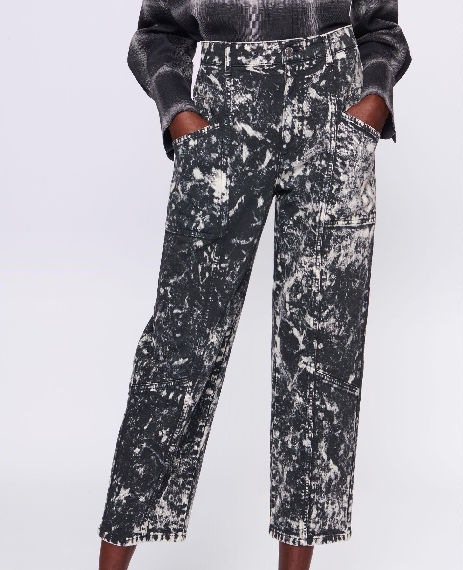 九分牛仔裤-黑色-large image number 3