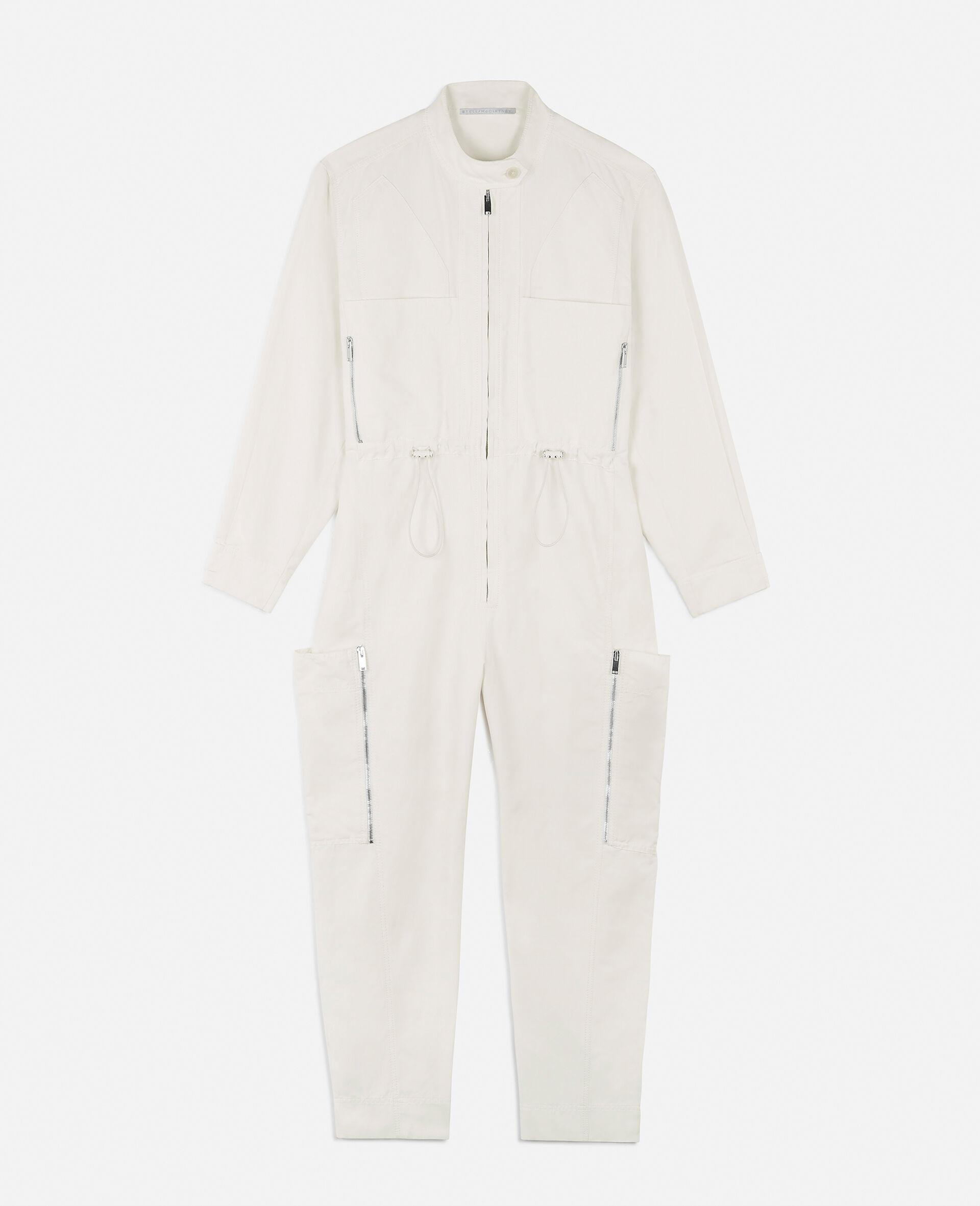 Combinaison Alessia en coton compact -Blanc-large image number 0