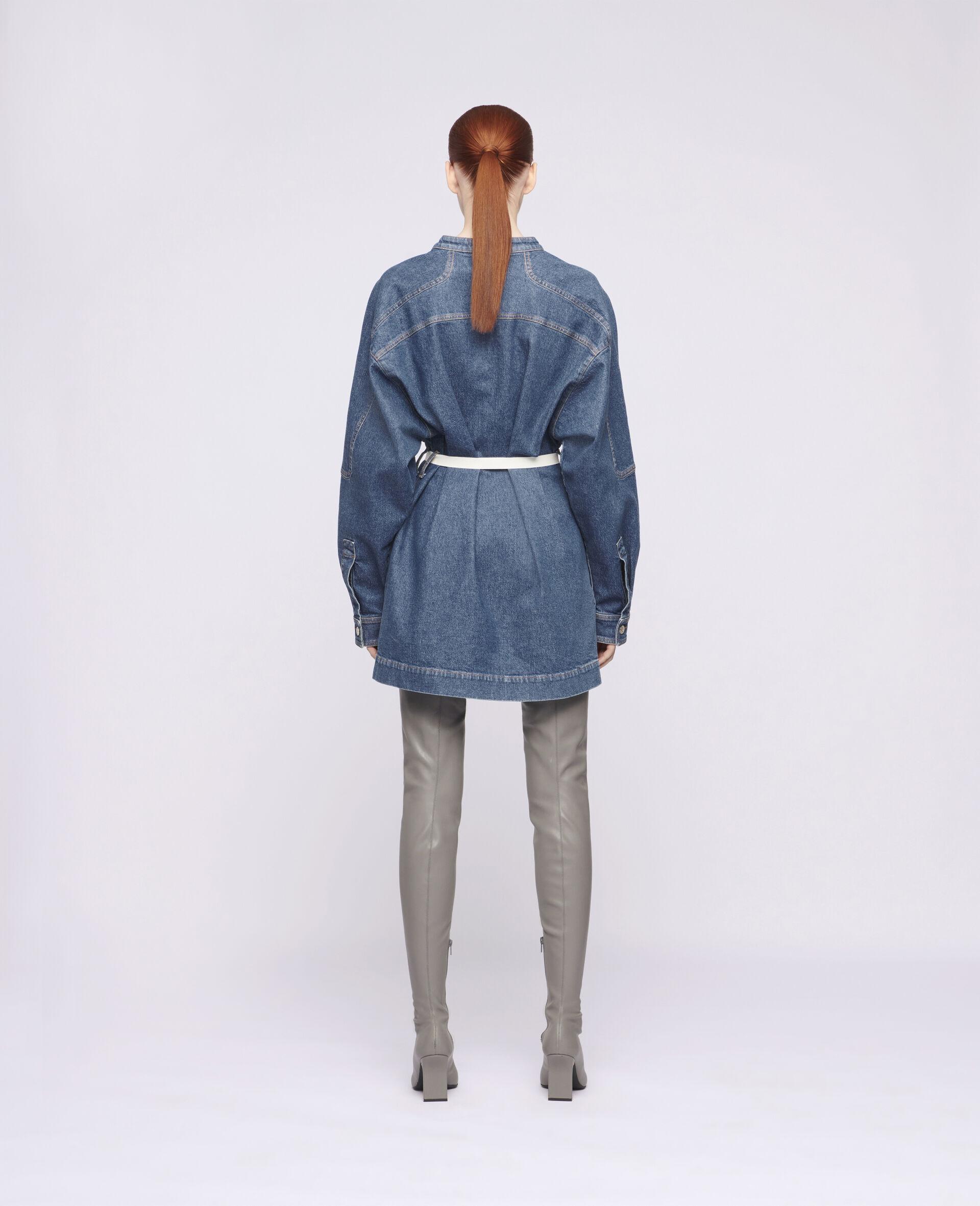Robe courte en denim-Bleu-large image number 2
