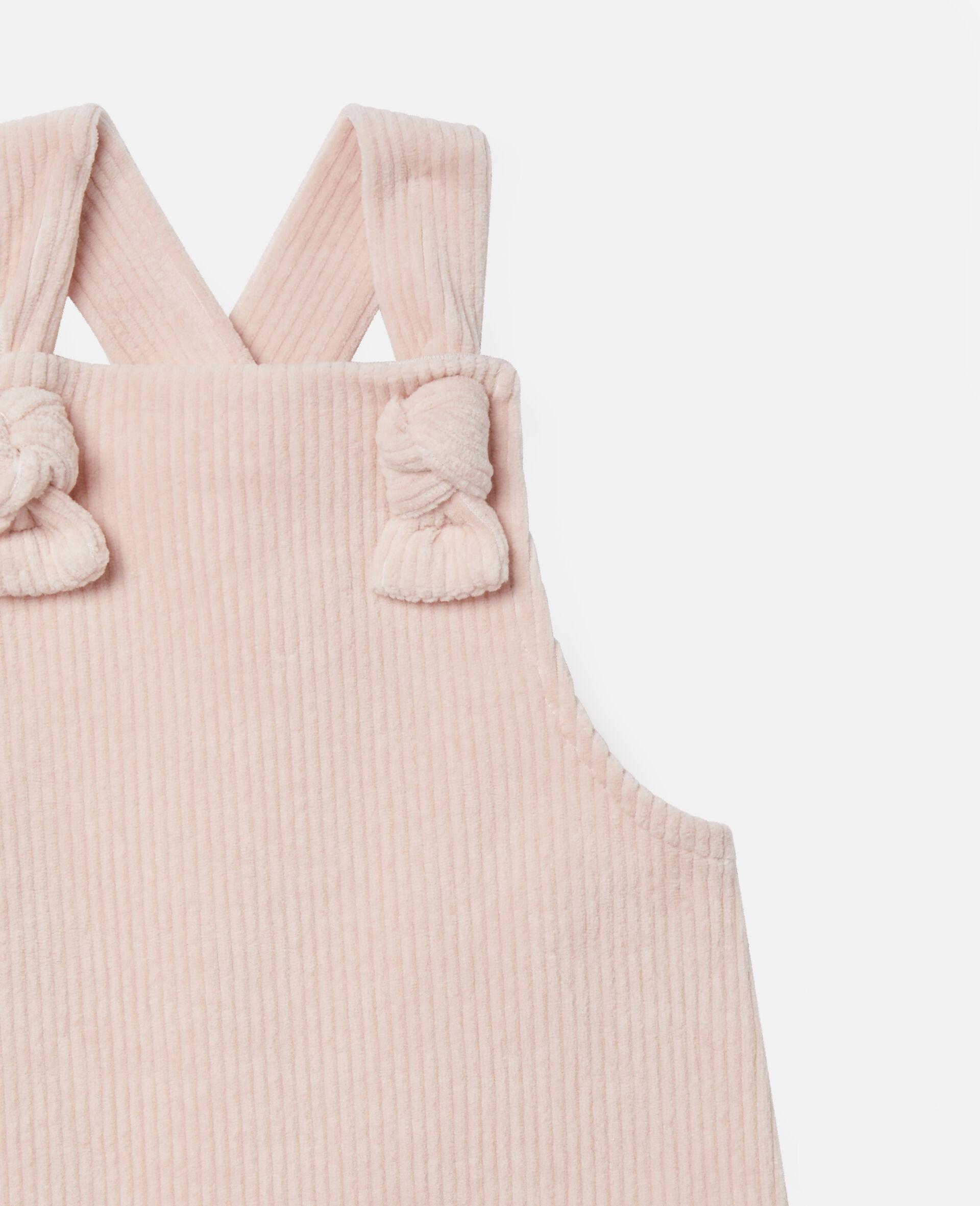 Combinaison pour bébé en velours-Rose-large image number 1