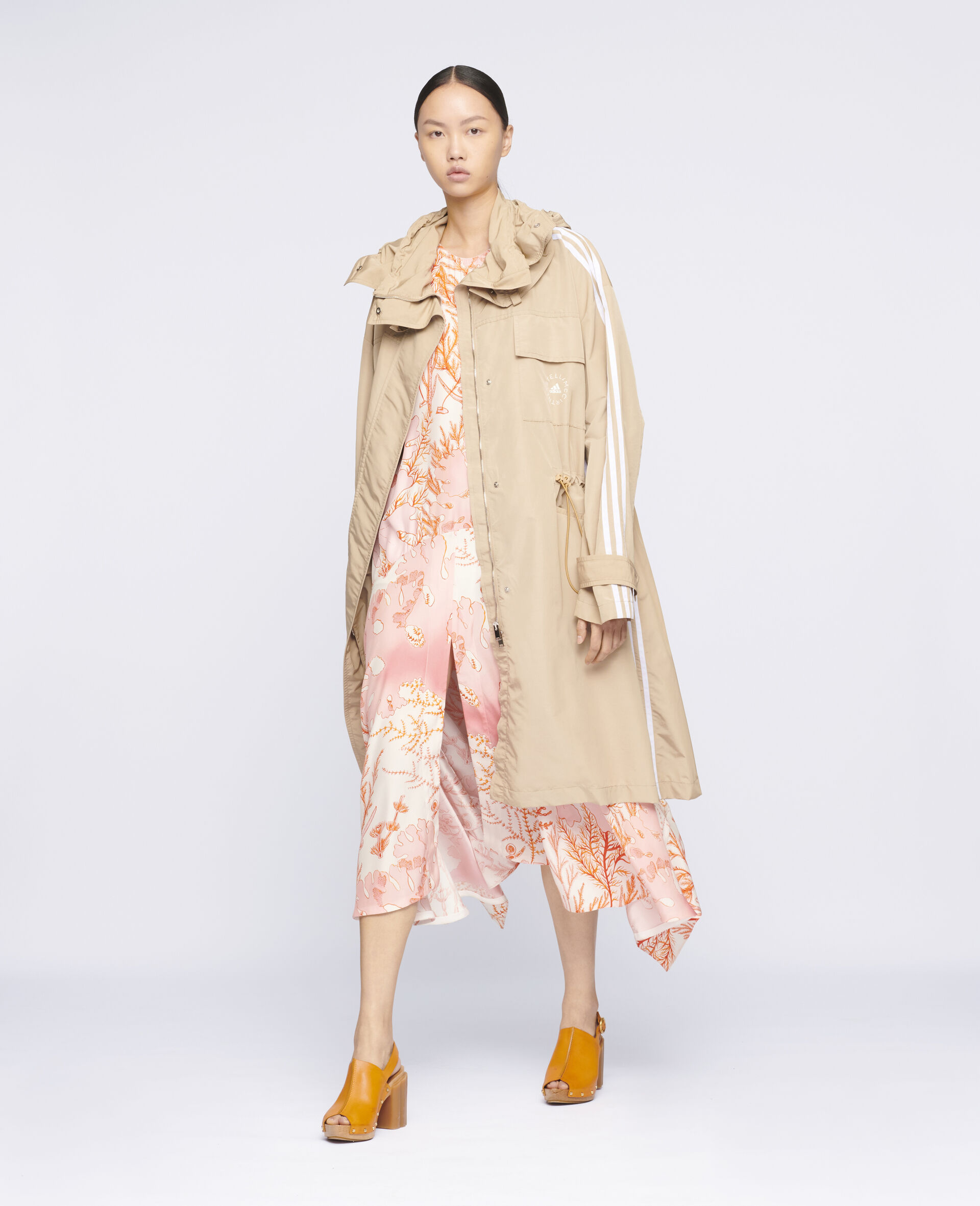 Jessa Trench Coat-Beige-large image number 1