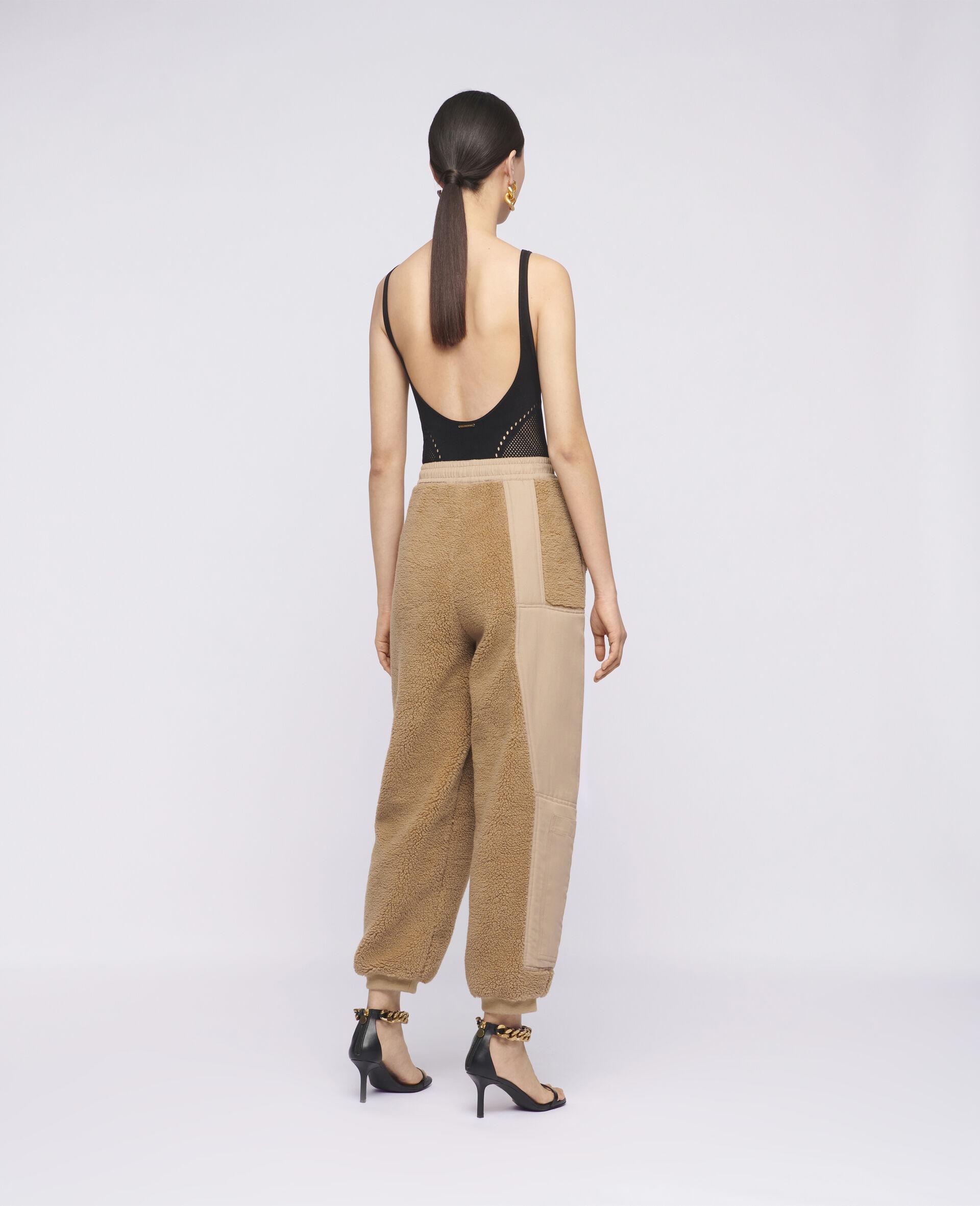 Pantaloni Kara in Teddy Mat-Marrone-large image number 2