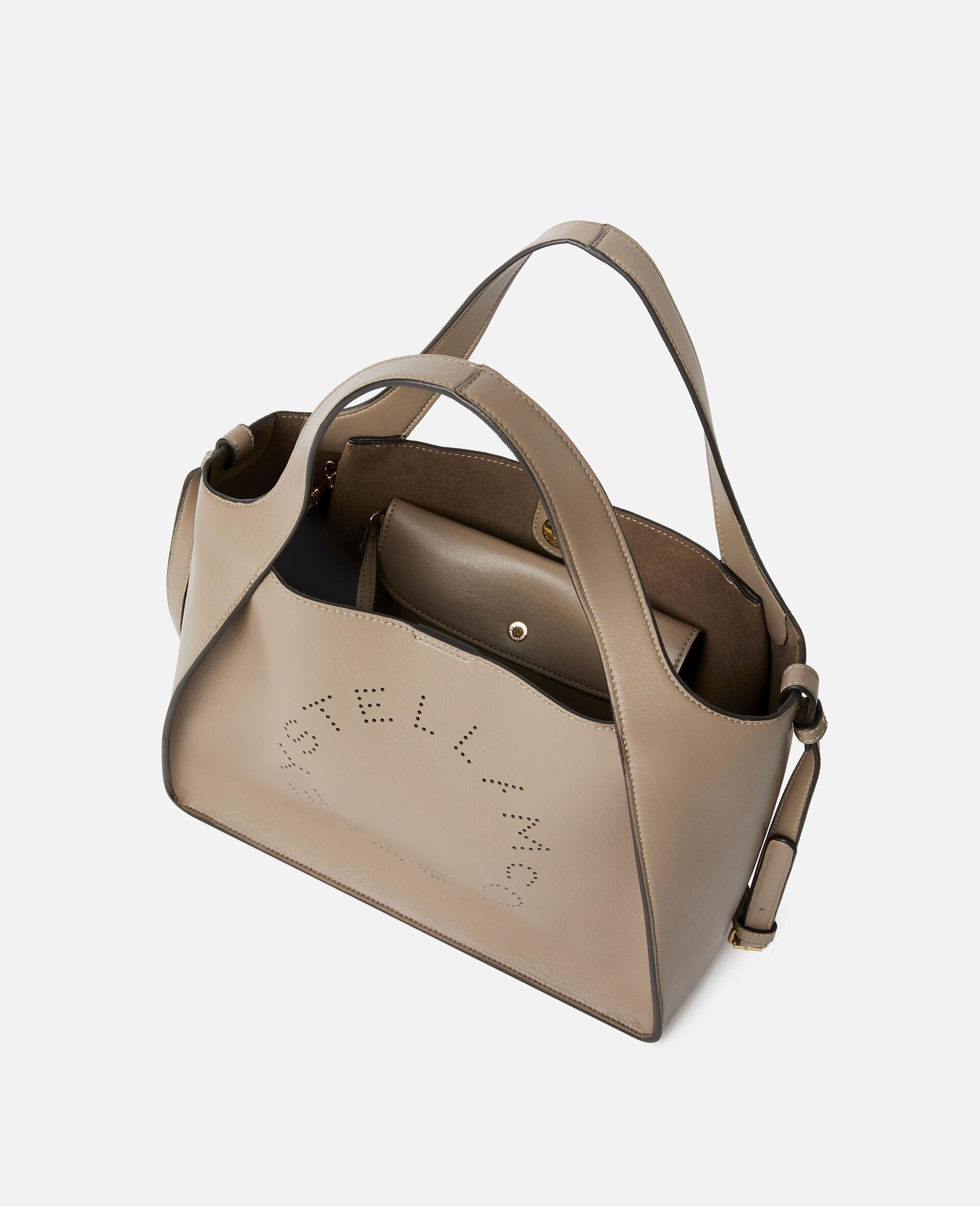 Stella Logo Crossbody Bag -Beige-large image number 3