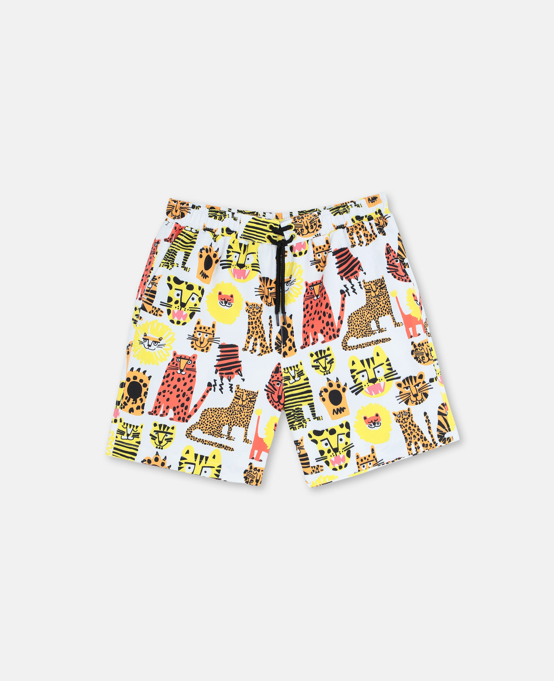 Wild Cats Swim Shorts-Yellow-large image number 0
