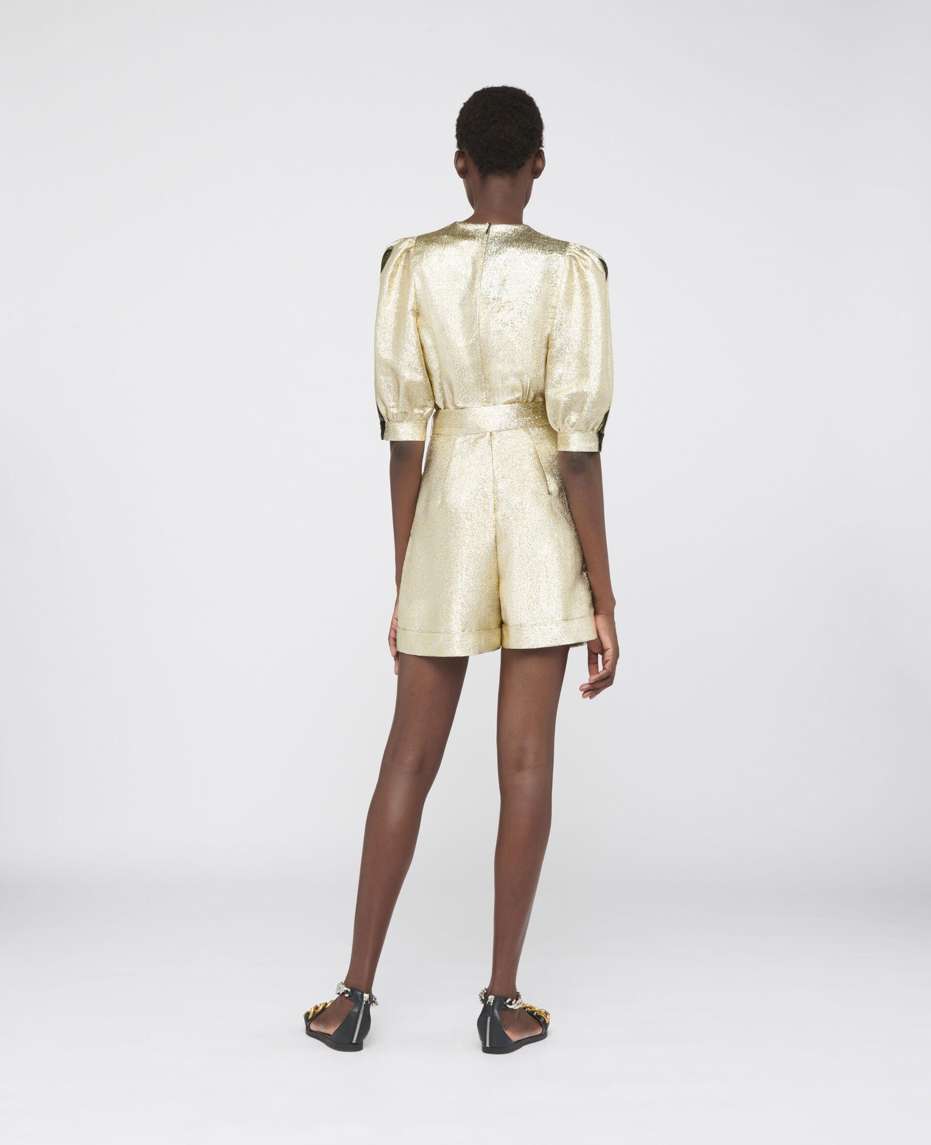 Elisa Lurex Jumpsuit-Yellow-large image number 2