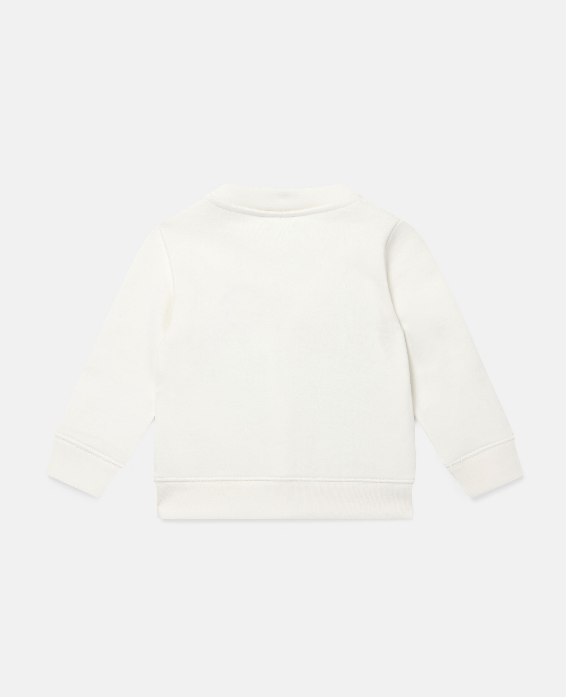 Fleece-Sweatshirt mit Gänseblümchenstickerei-Weiß-large image number 3