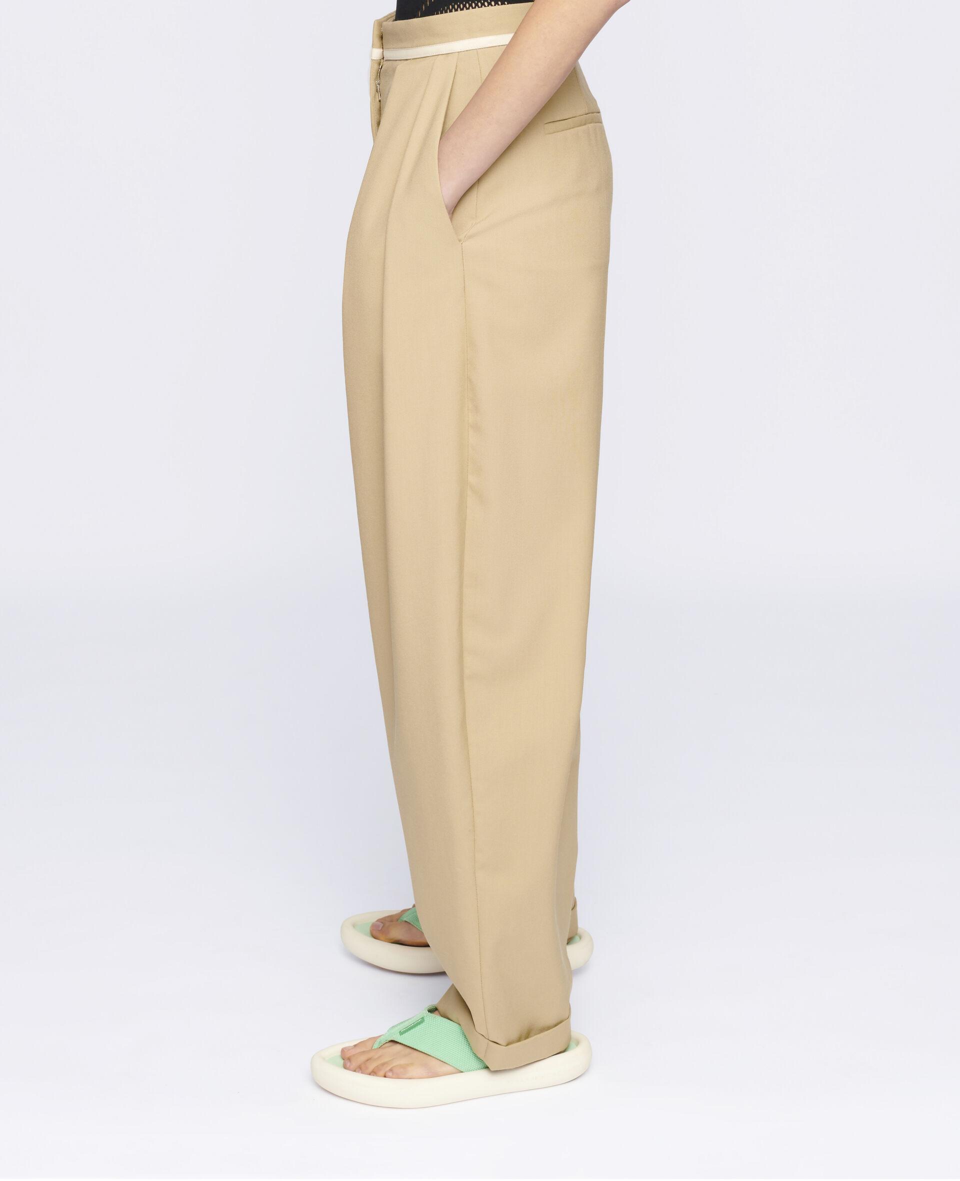Ariana 羊毛裤装-米色-large image number 3