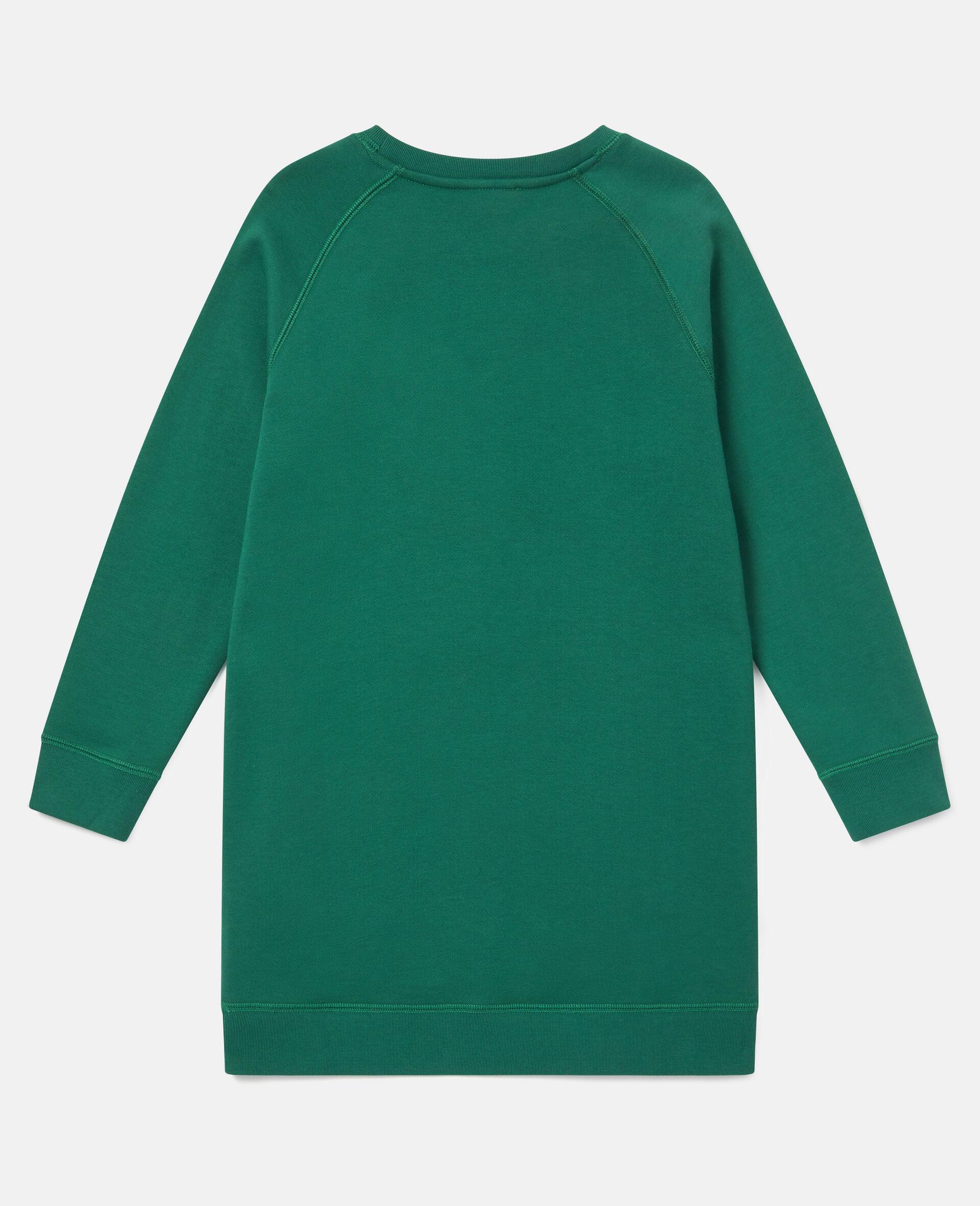 Dancing Dog Fleece Dress-Green-large image number 3
