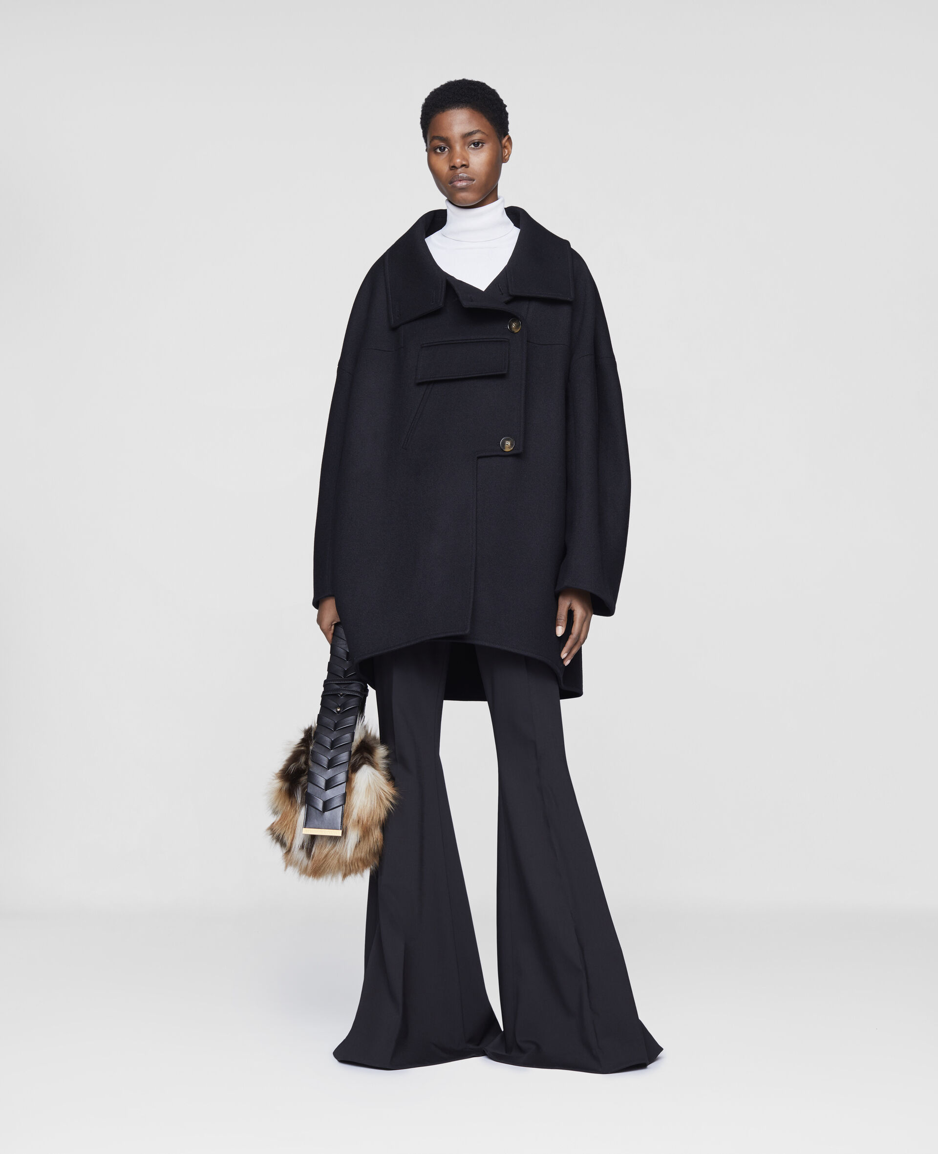 Veda Wool Coat-Black-large image number 1