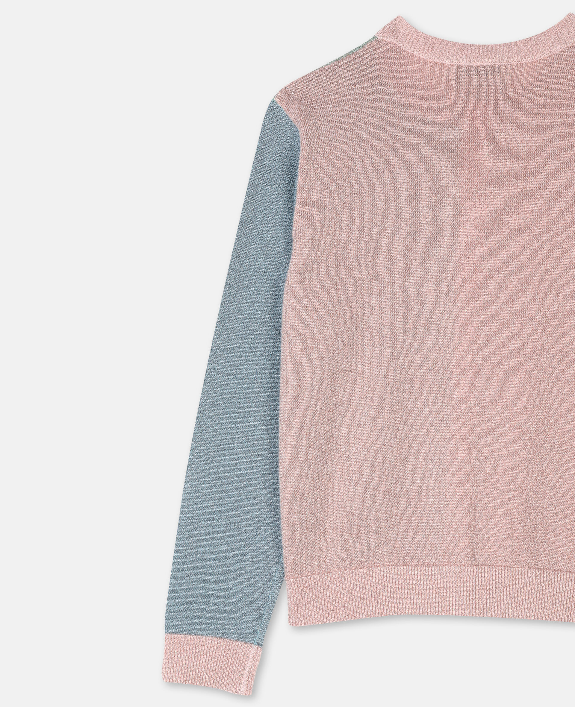 Multicolor Knit Cardigan -Pink-large image number 2