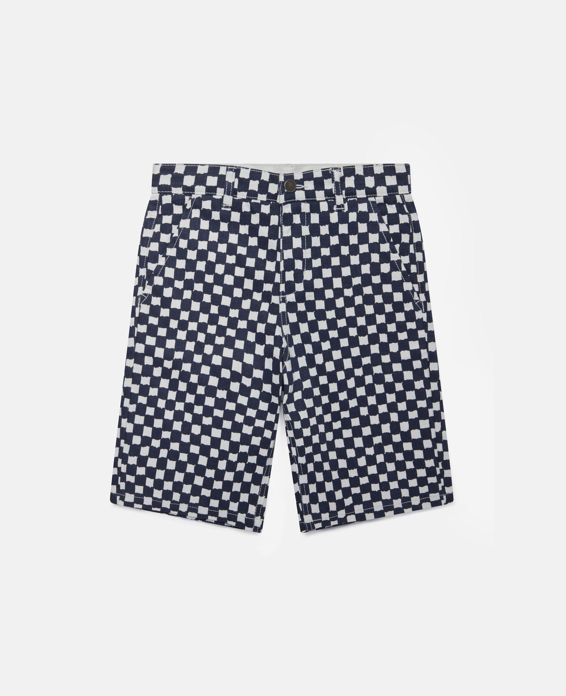 Karierte Denim-Shorts -Bunt-large image number 0
