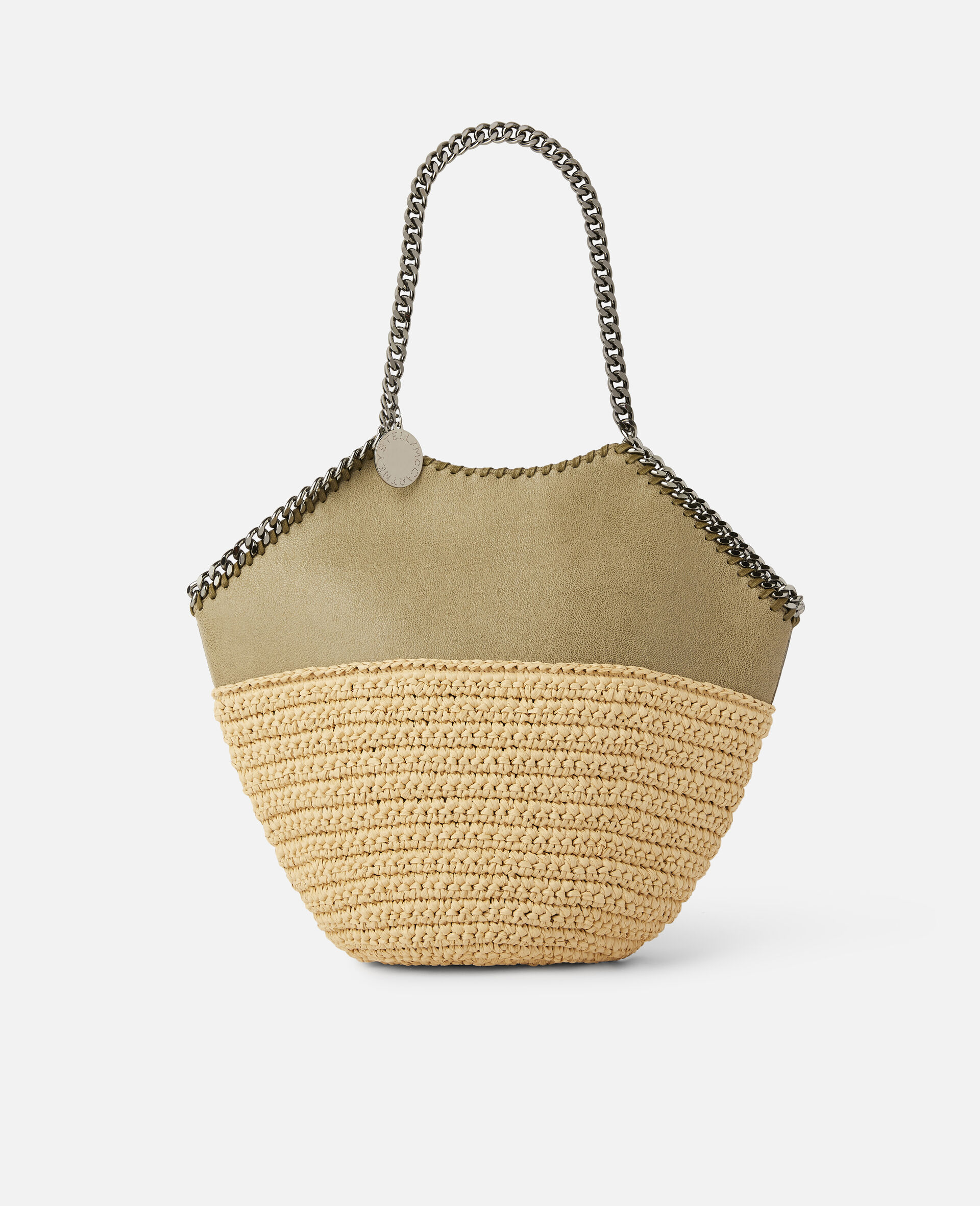 Falabella Raffia Medium Tote -Green-large image number 0