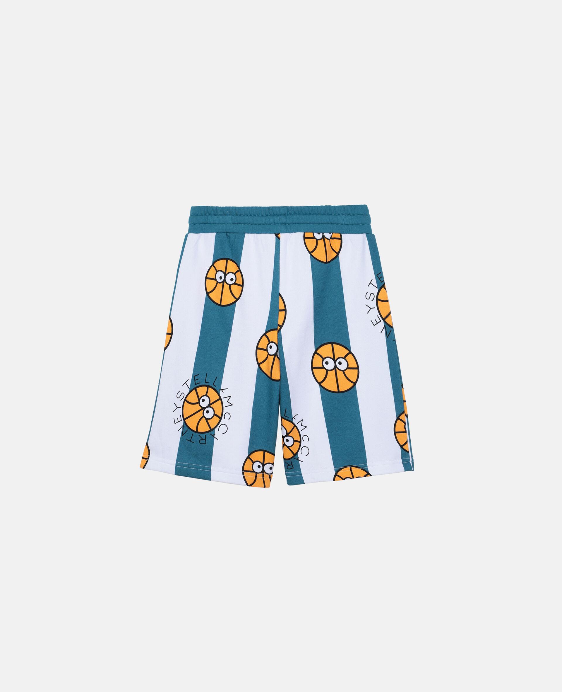 Basketball Cotton Shorts -Multicolour-large image number 3