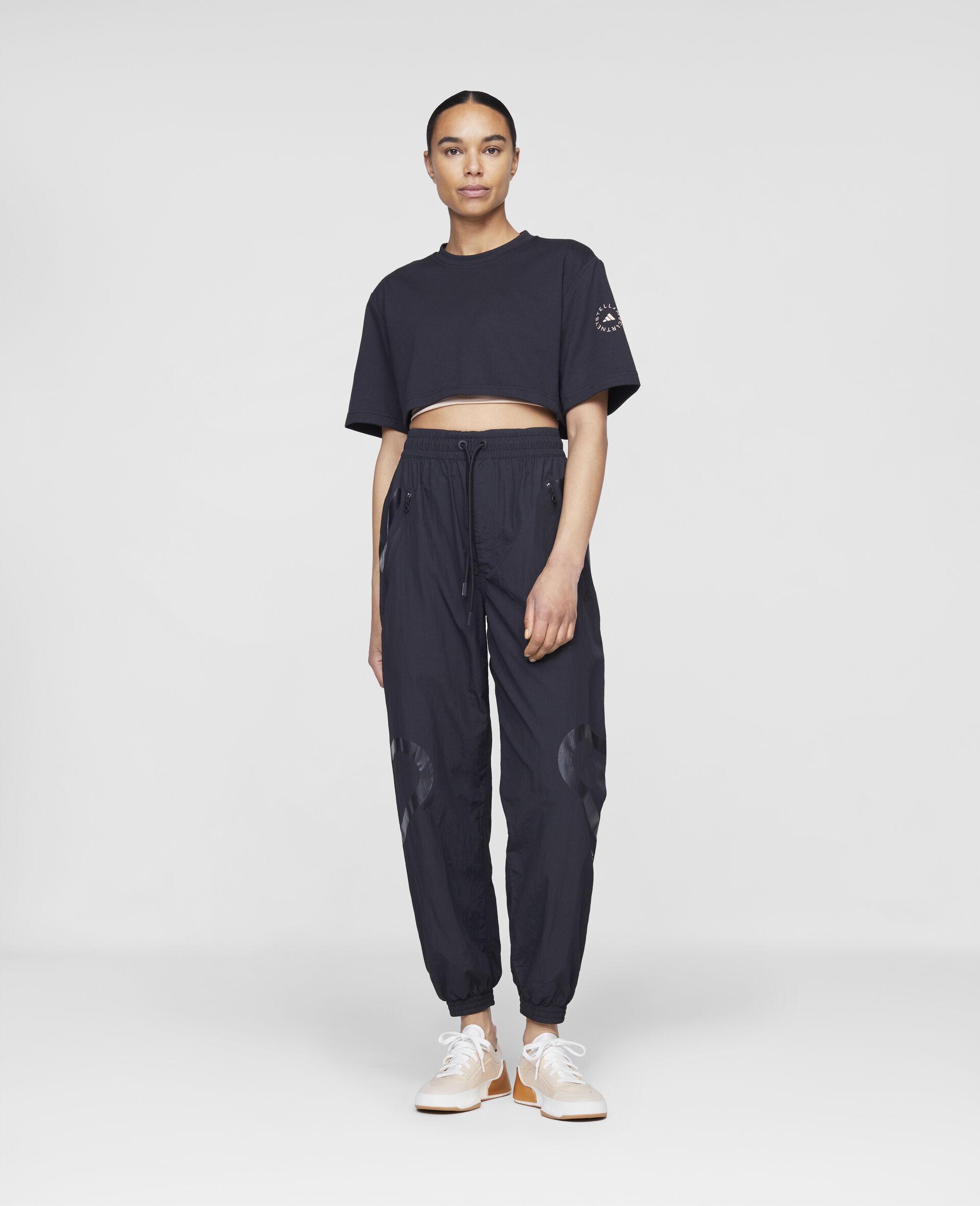 黑色编织训练长裤-黑色-large image number 1
