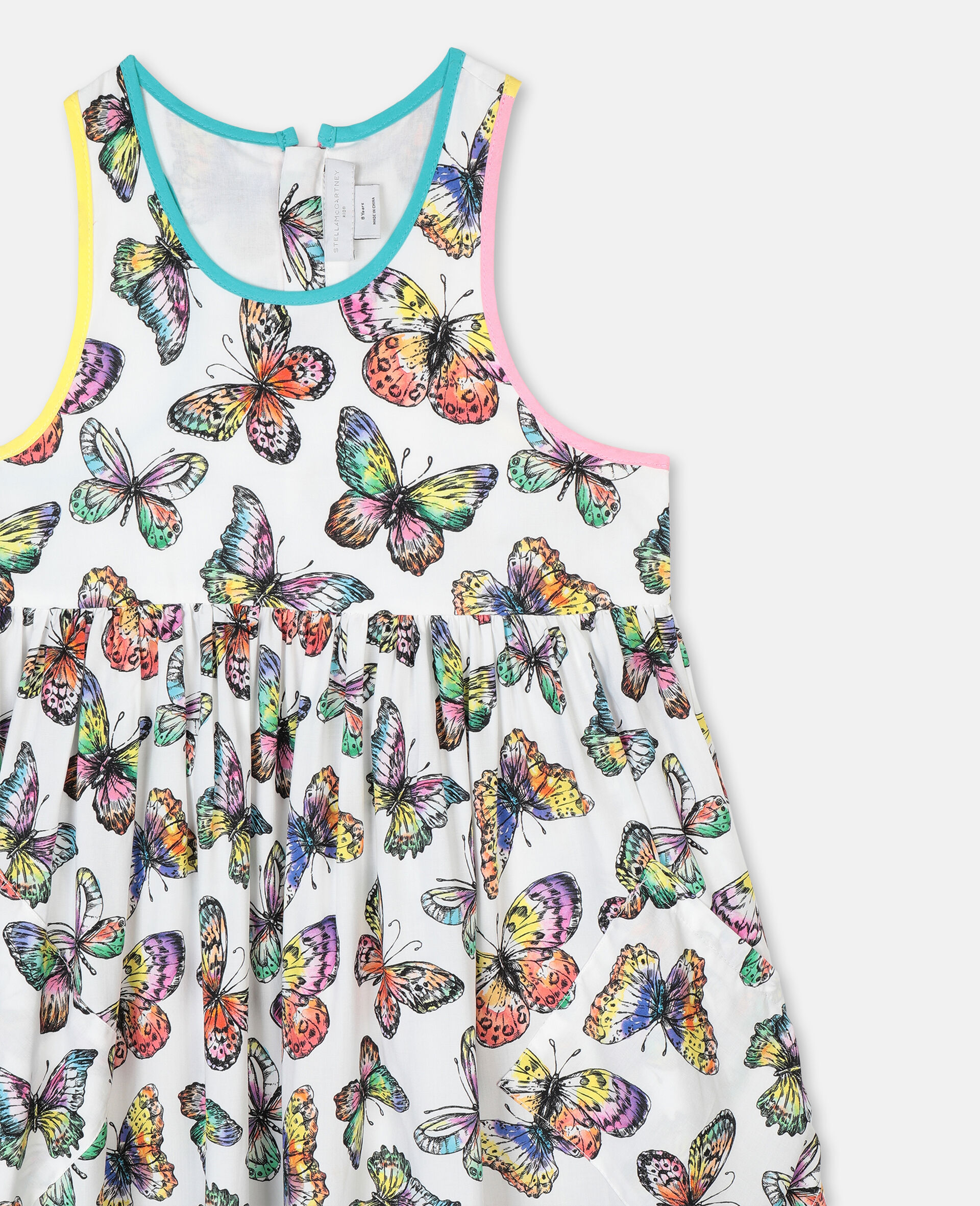 Butterfly Viscose Dress-Multicolour-large image number 1