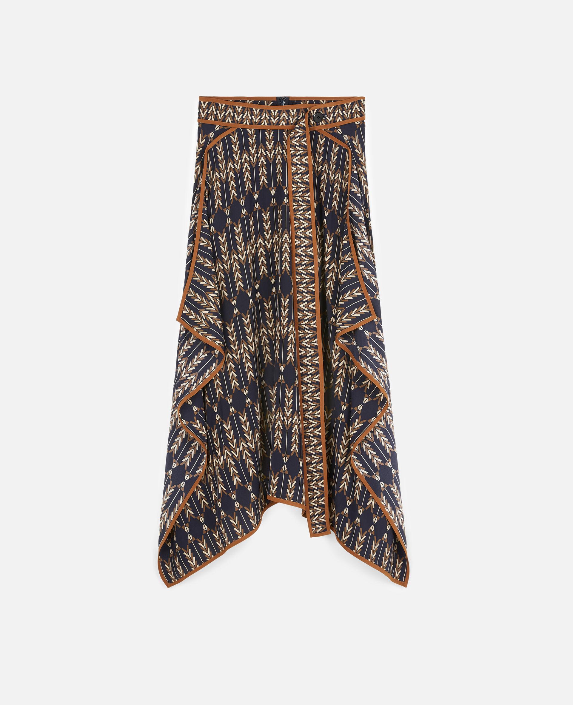 Norah Silk Skirt -Multicolour-large image number 0