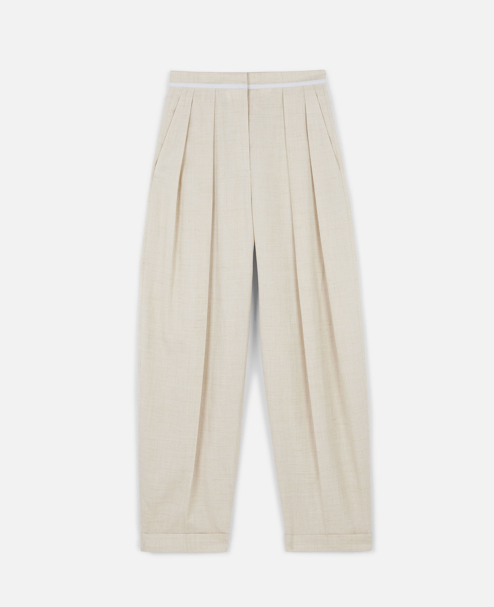 Ariana Tailored Trousers-Beige-large image number 0