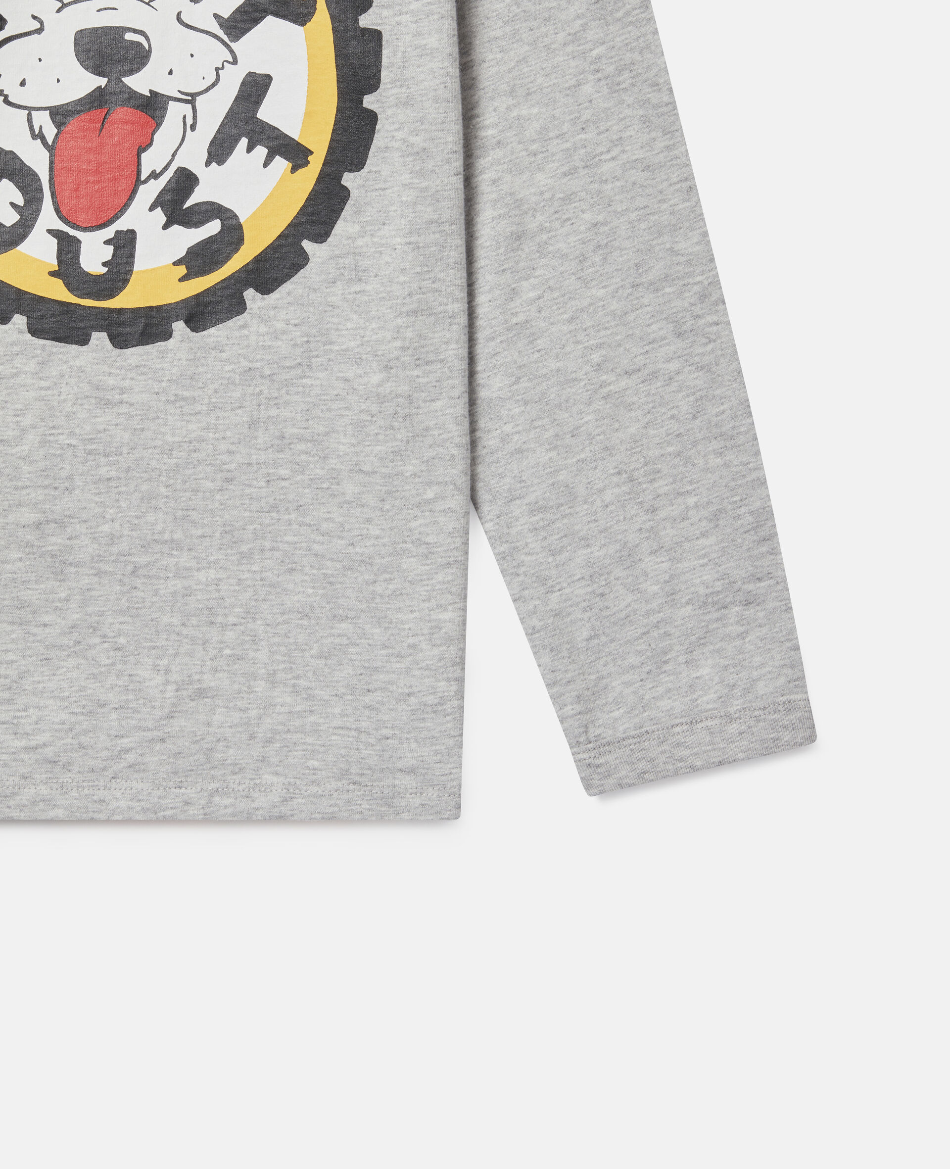 Oversized 'Eat My Dust' Top-Grey-large image number 2