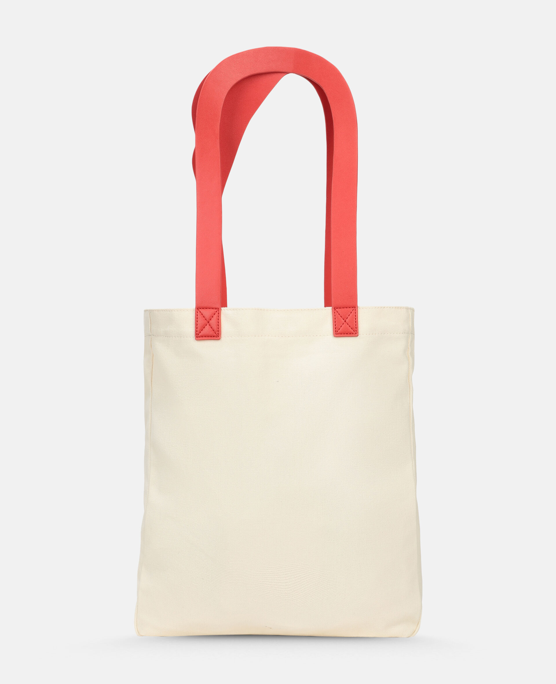 Flamingo Canvas Tote Bag -White-large image number 3