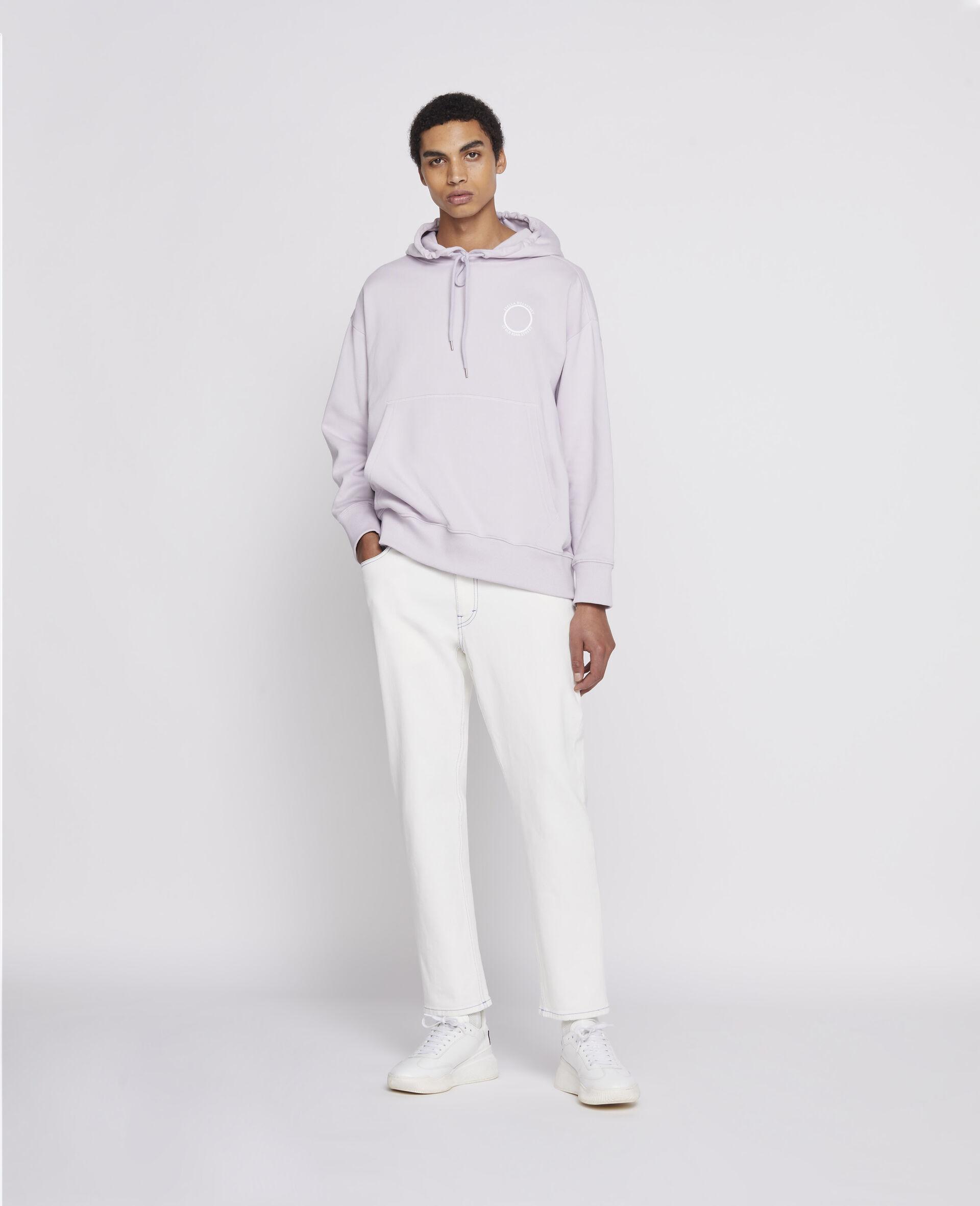 Sweat-shirt à capuche 23 OBS en coton biologique-Marron-large image number 3