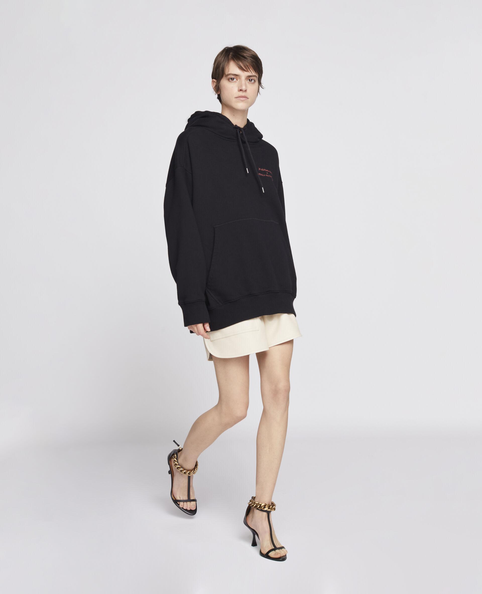 Nara Organic Cotton Hoodie-Black-large image number 1