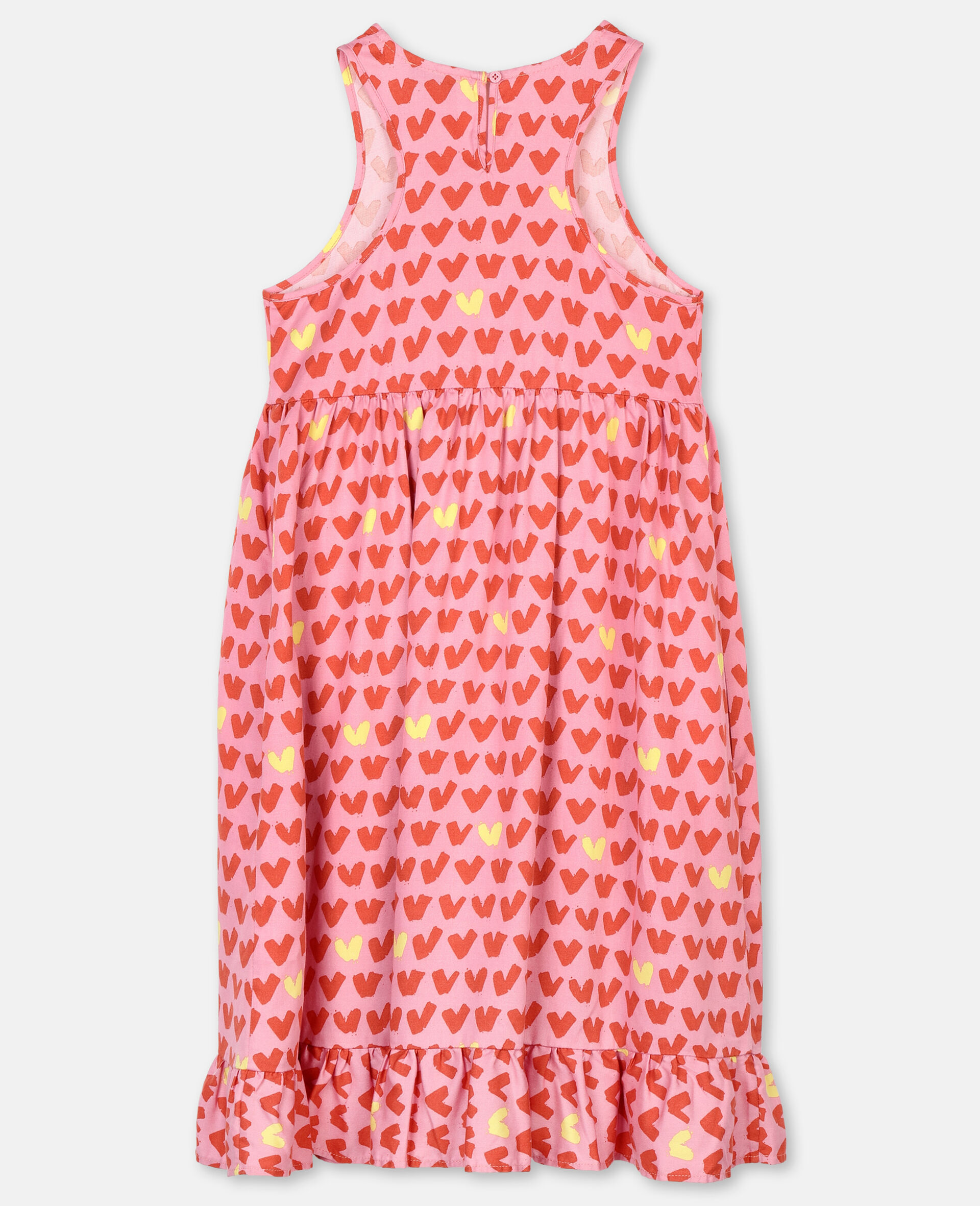 Hearts Viscose Twill Dress-Pink-large image number 3