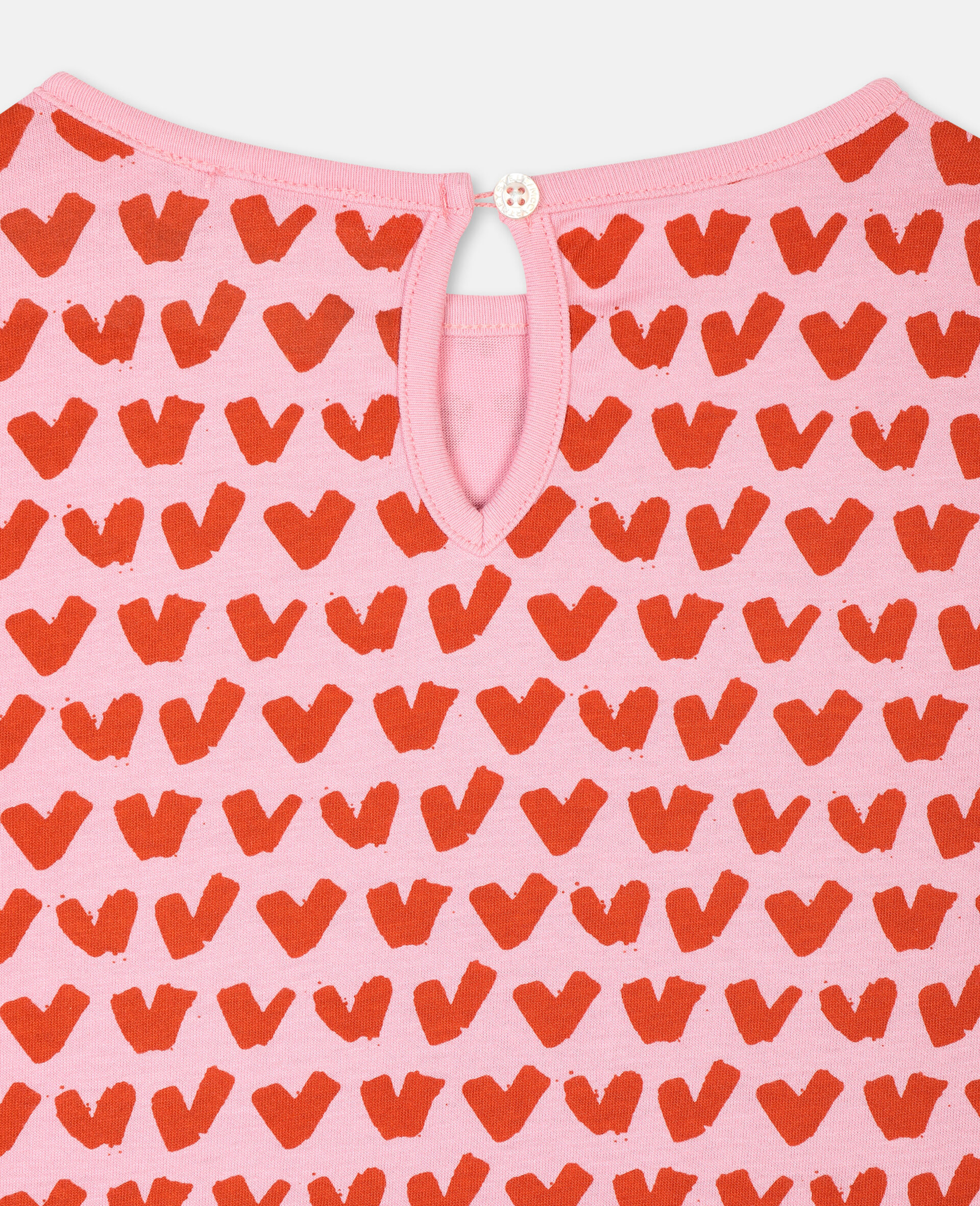 Hearts Cotton T-shirt-Pink-large image number 2