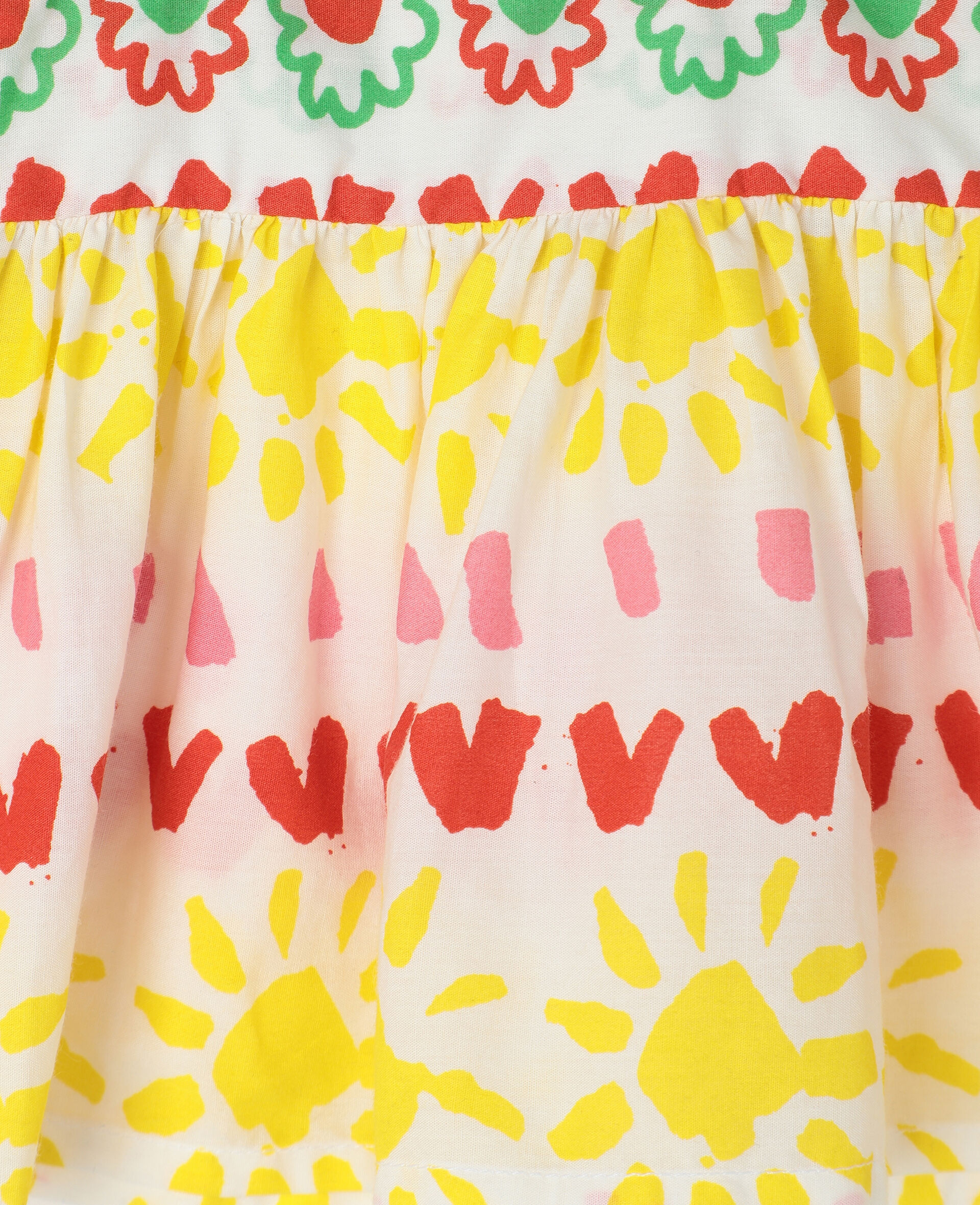 Happy Stripes Cotton Top and Bloomers-Yellow-large image number 1