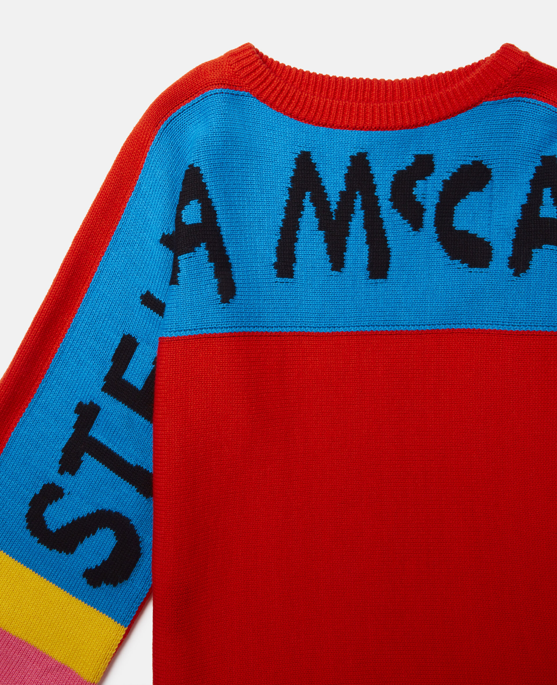 Stella Pencil Knit Intarsia Jumper -Red-large image number 1