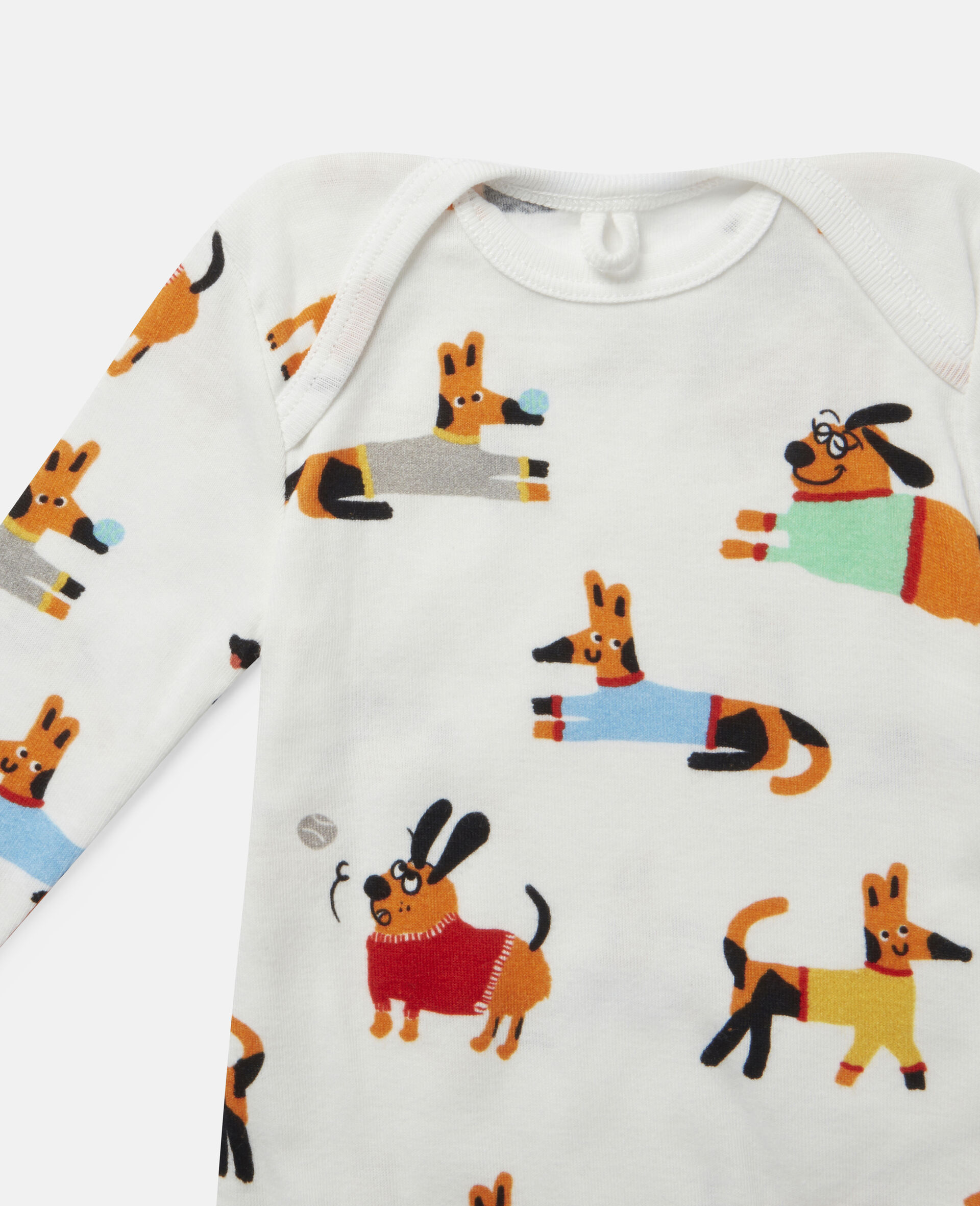 Baby Doggies Jersey Rib Bodies Set-Multicolour-large image number 2
