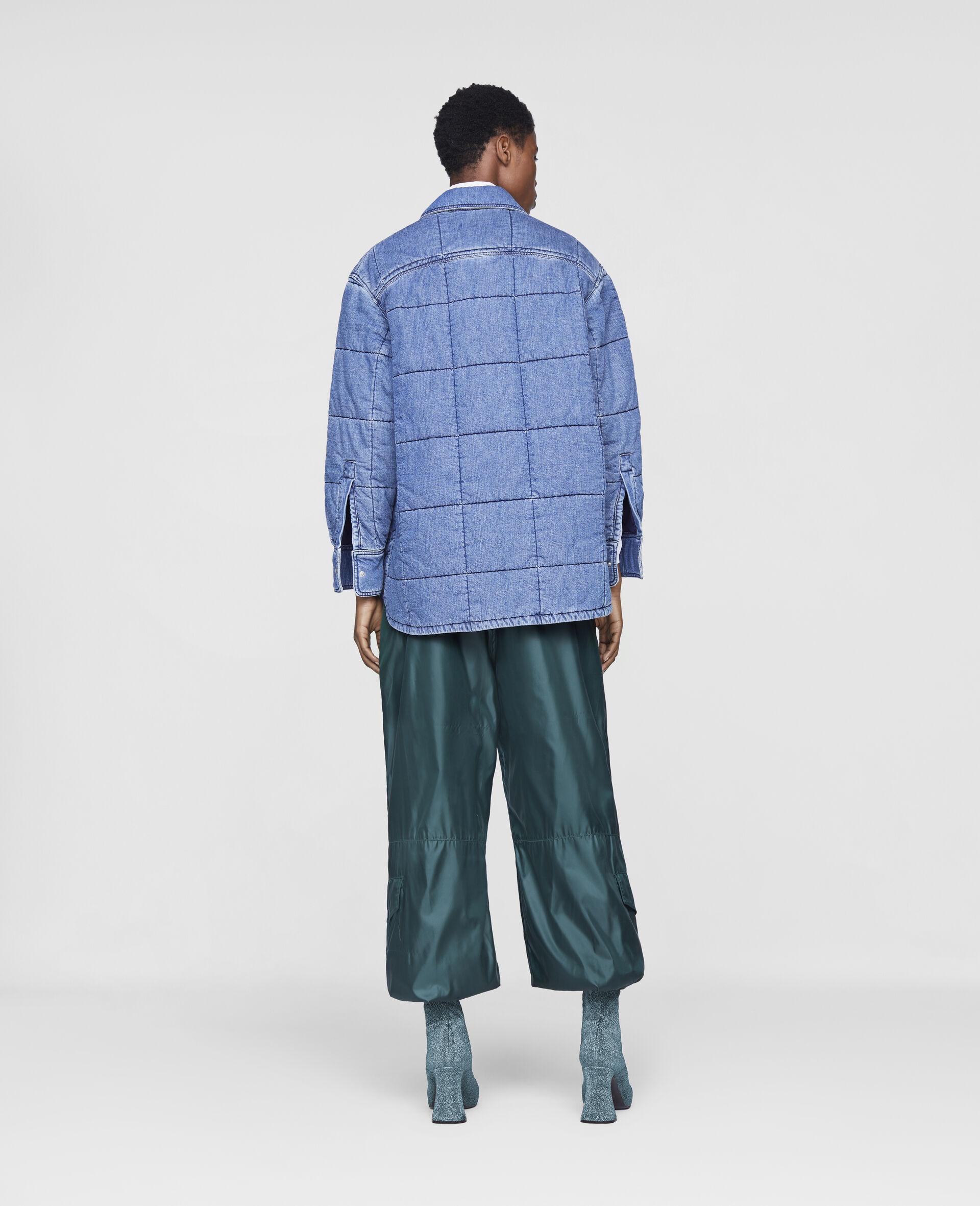 Quilted Denim Shirt-Blue-large image number 2