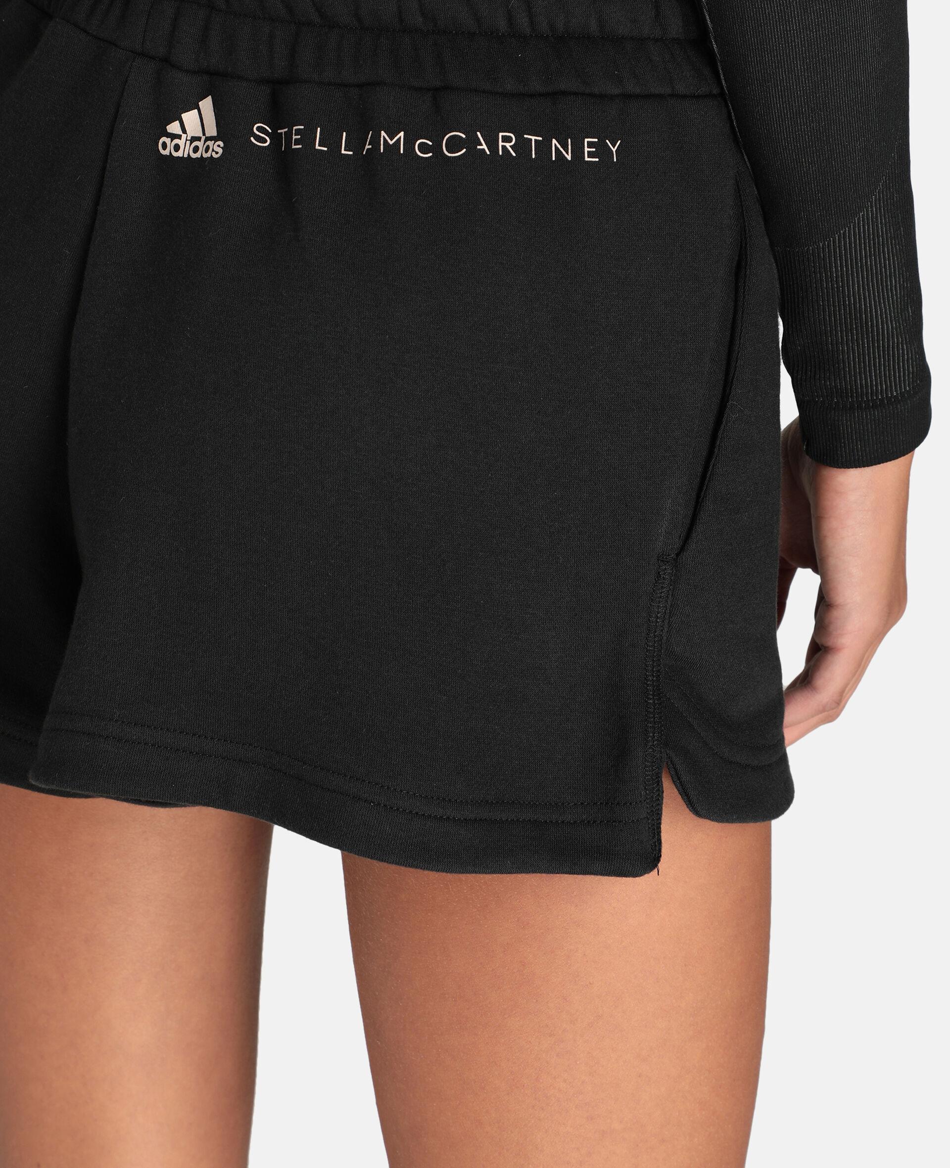 Black Sweat Fleece Short-Black-large image number 3