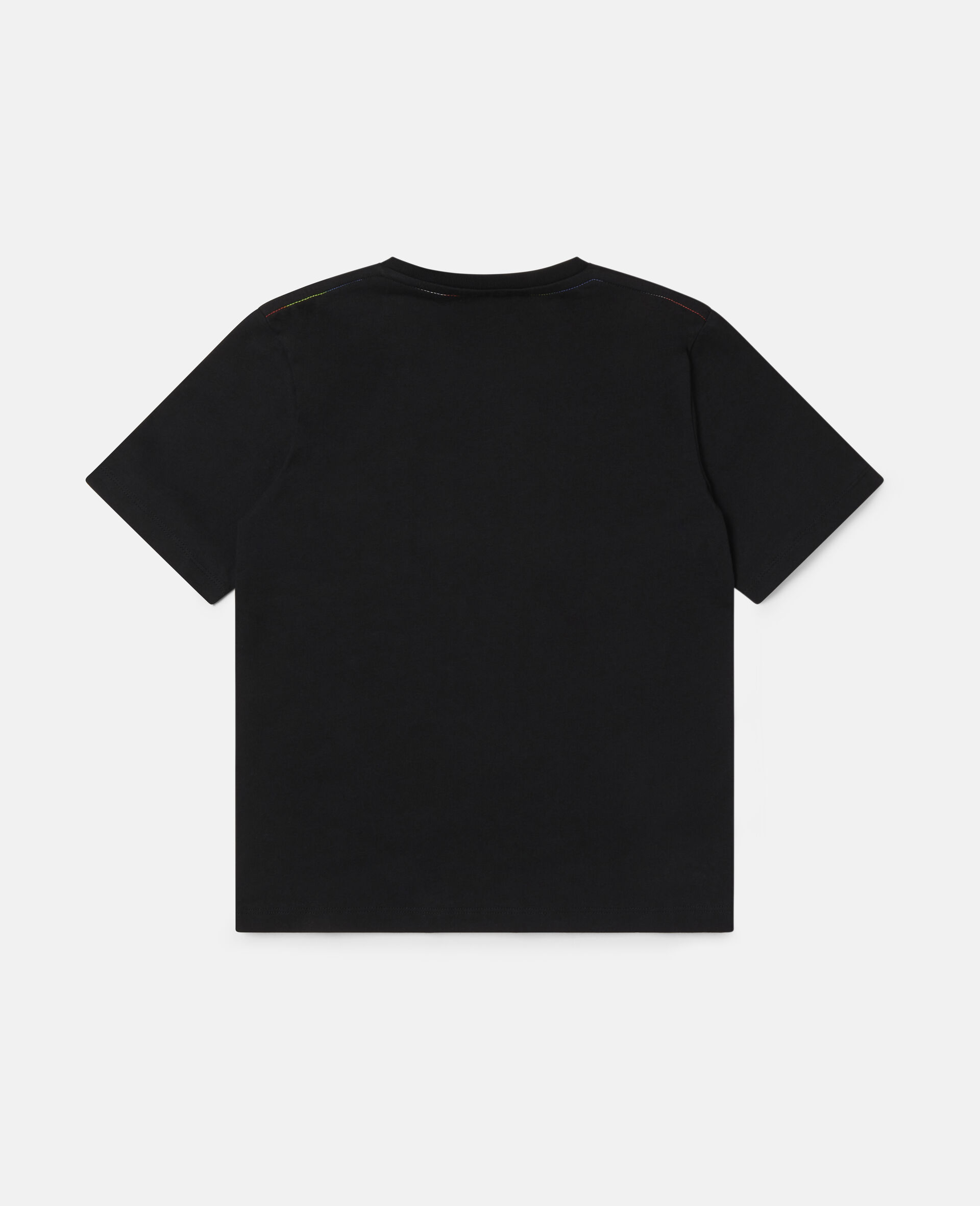 Stella Oversize Cotton T-shirt -Black-large image number 3