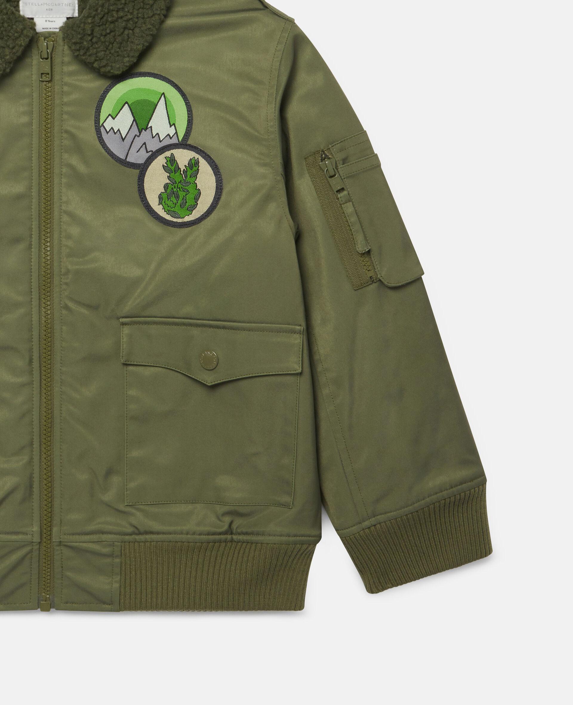 Mountain Badges Jacket-Green-large image number 2